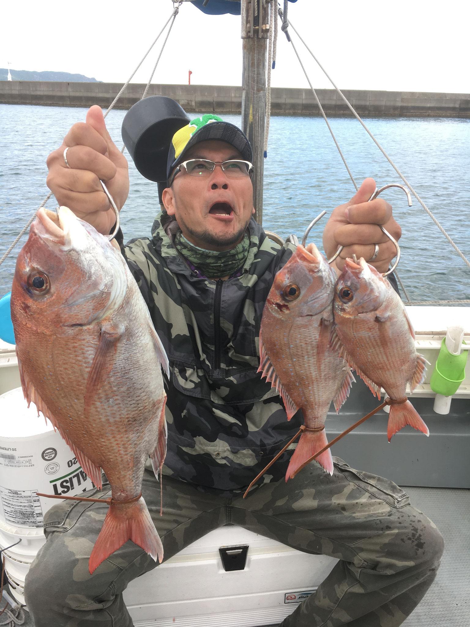 変顔頂きました(^^♪3Fish!