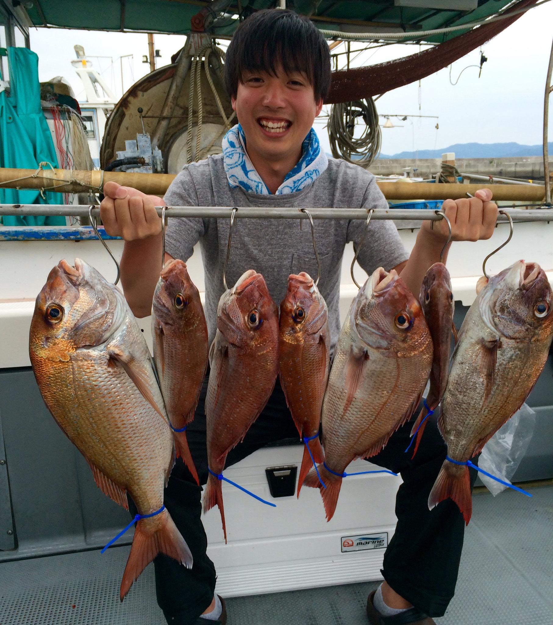 初タイラバで7Fish!