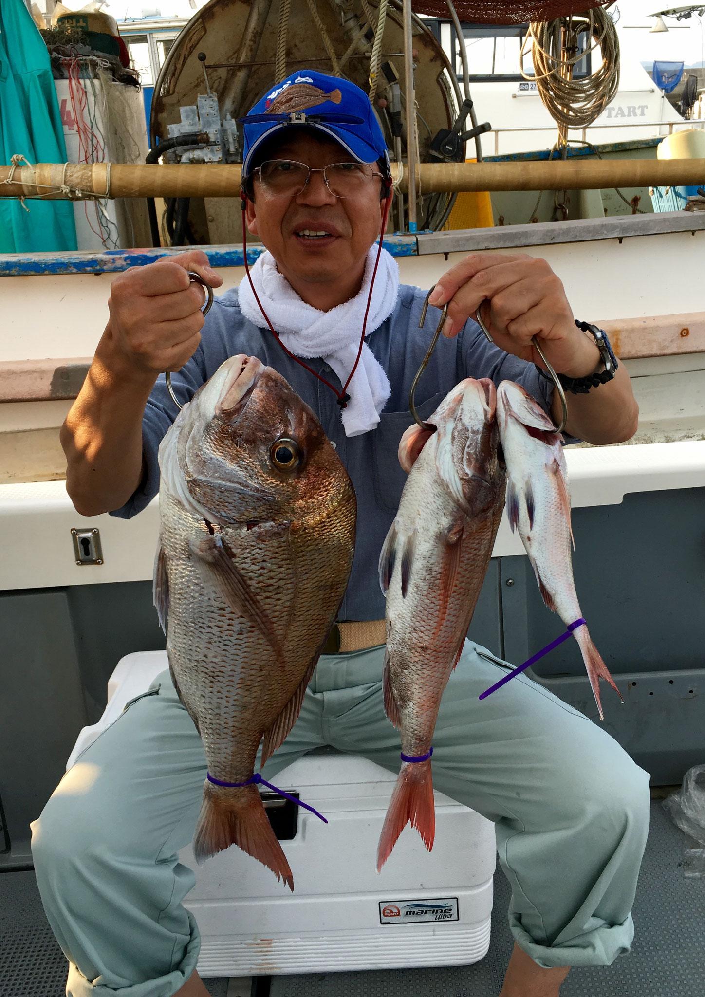 60オーバー頭に3Fish!