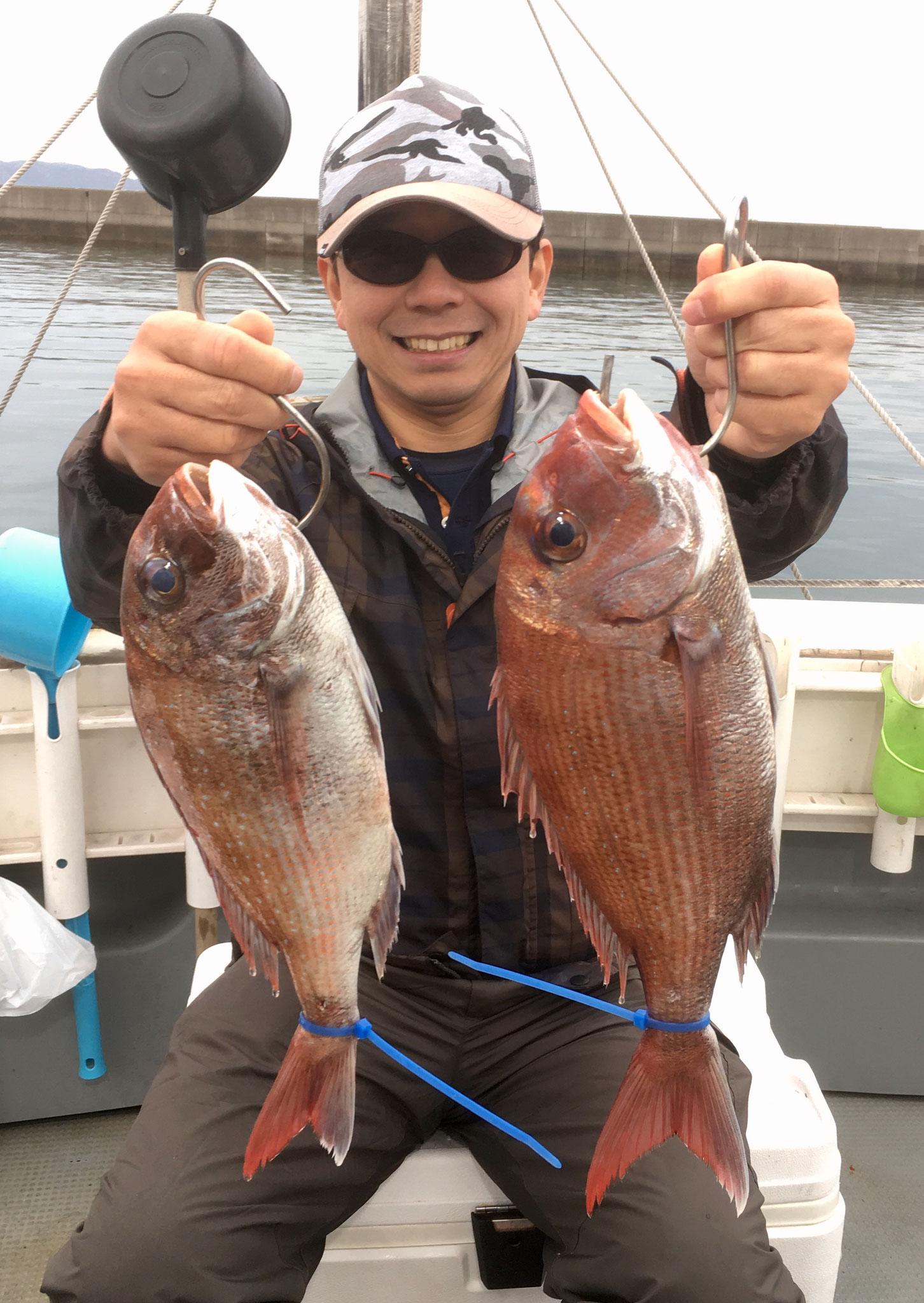 今シーズン初タイラバで2Fish!