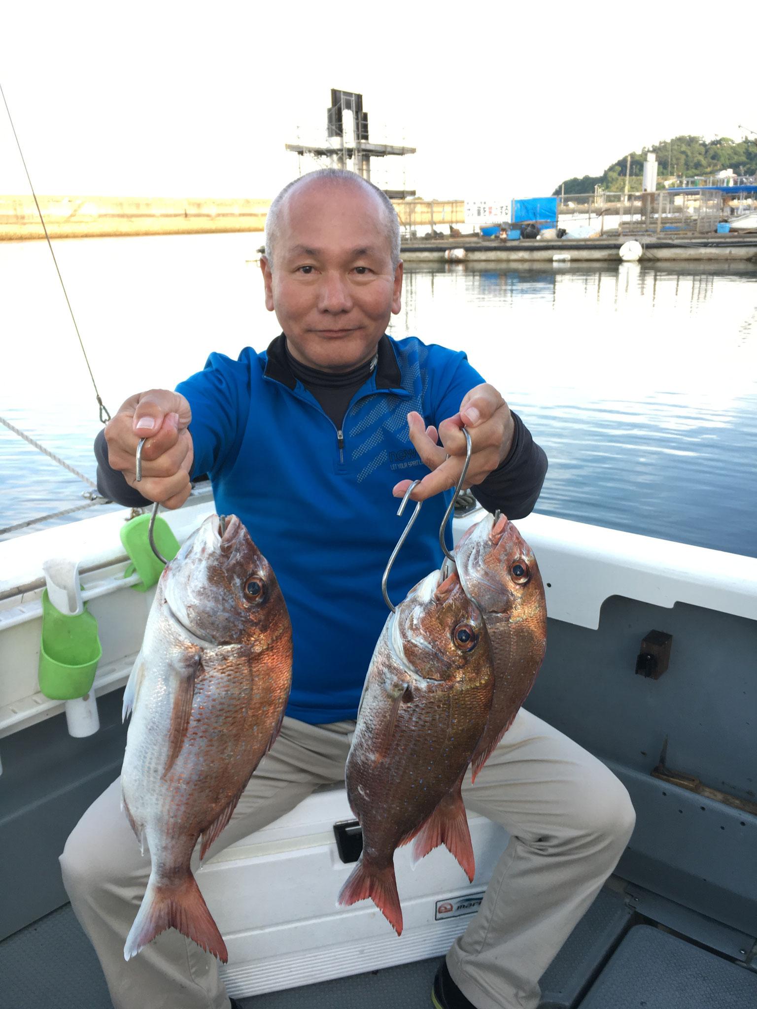 終盤に3Fish!
