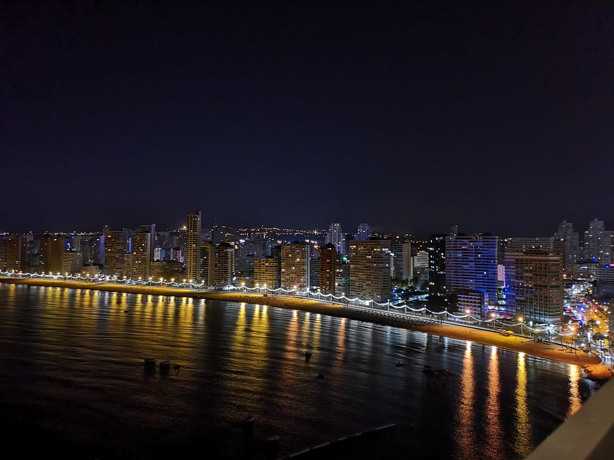 Вид с террасы ночью