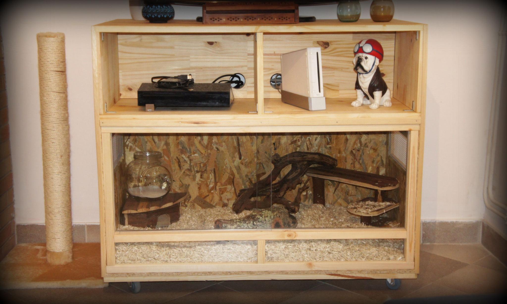 Habitat de 100 x 50 pour notre duo Coz et Cigaro (cheesman)