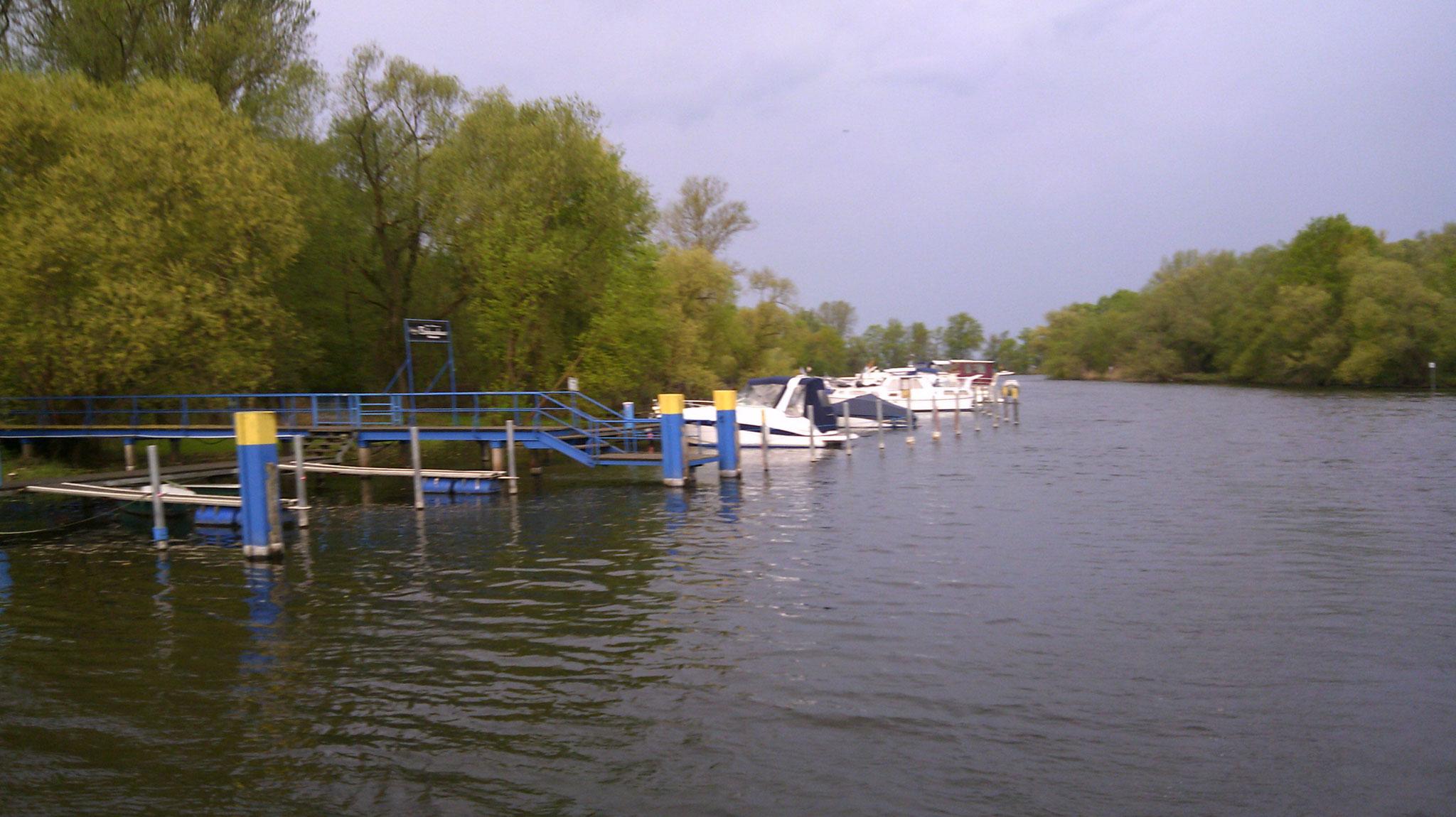 mit dem Boot auf der Havel