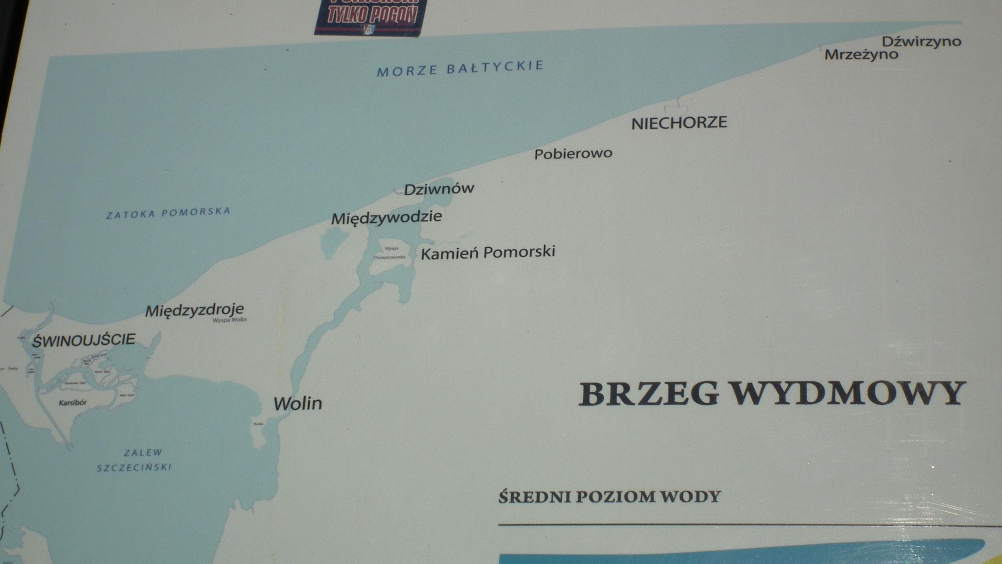 Karte Dievenow