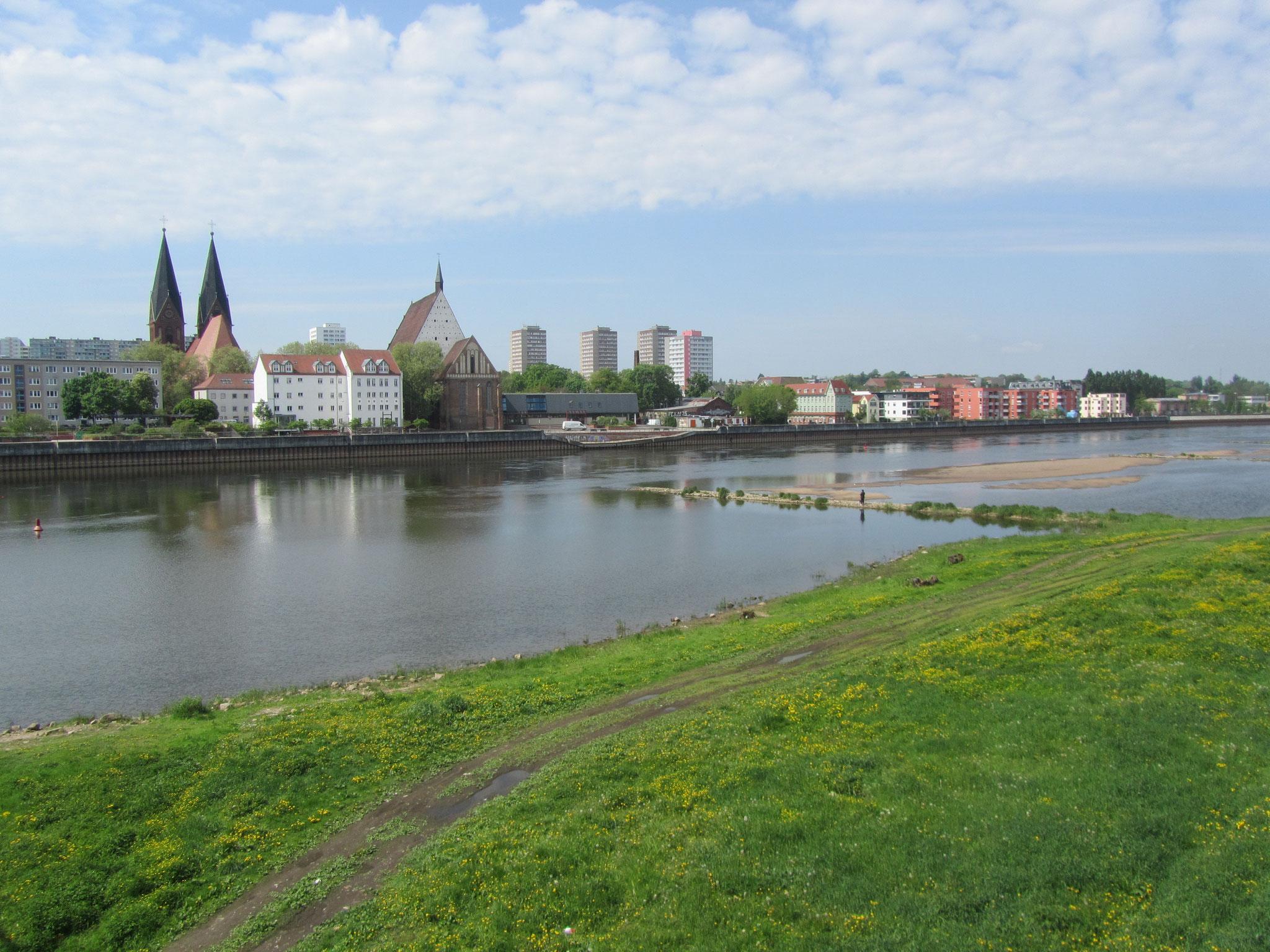 Frankfurt an der Oder von Slubice aus gesehen