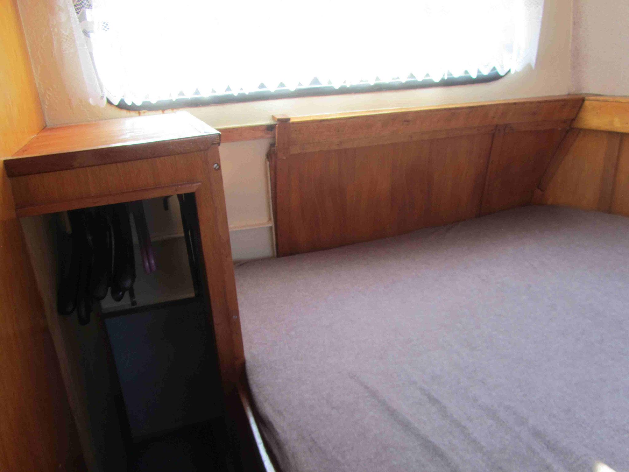 riesiges Bett in der Achterkajüte - hier ging nur reinkriechen und liegen