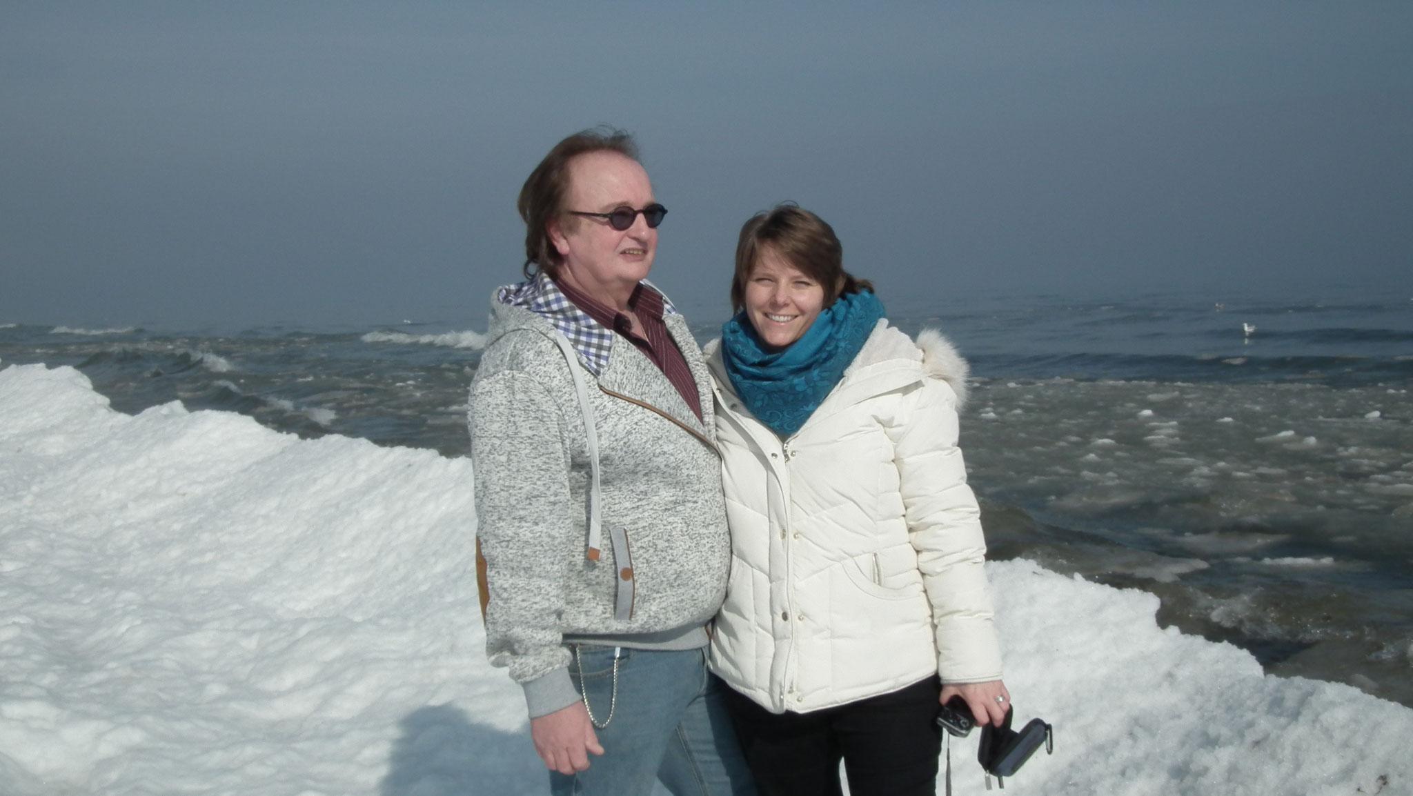 Dunja Bruder & Stephan Havemann am Strand von Karlshagen Usedom