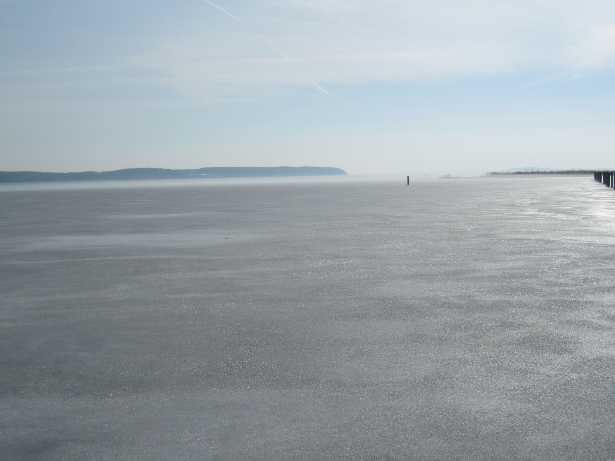 Achterwasser unter Eis