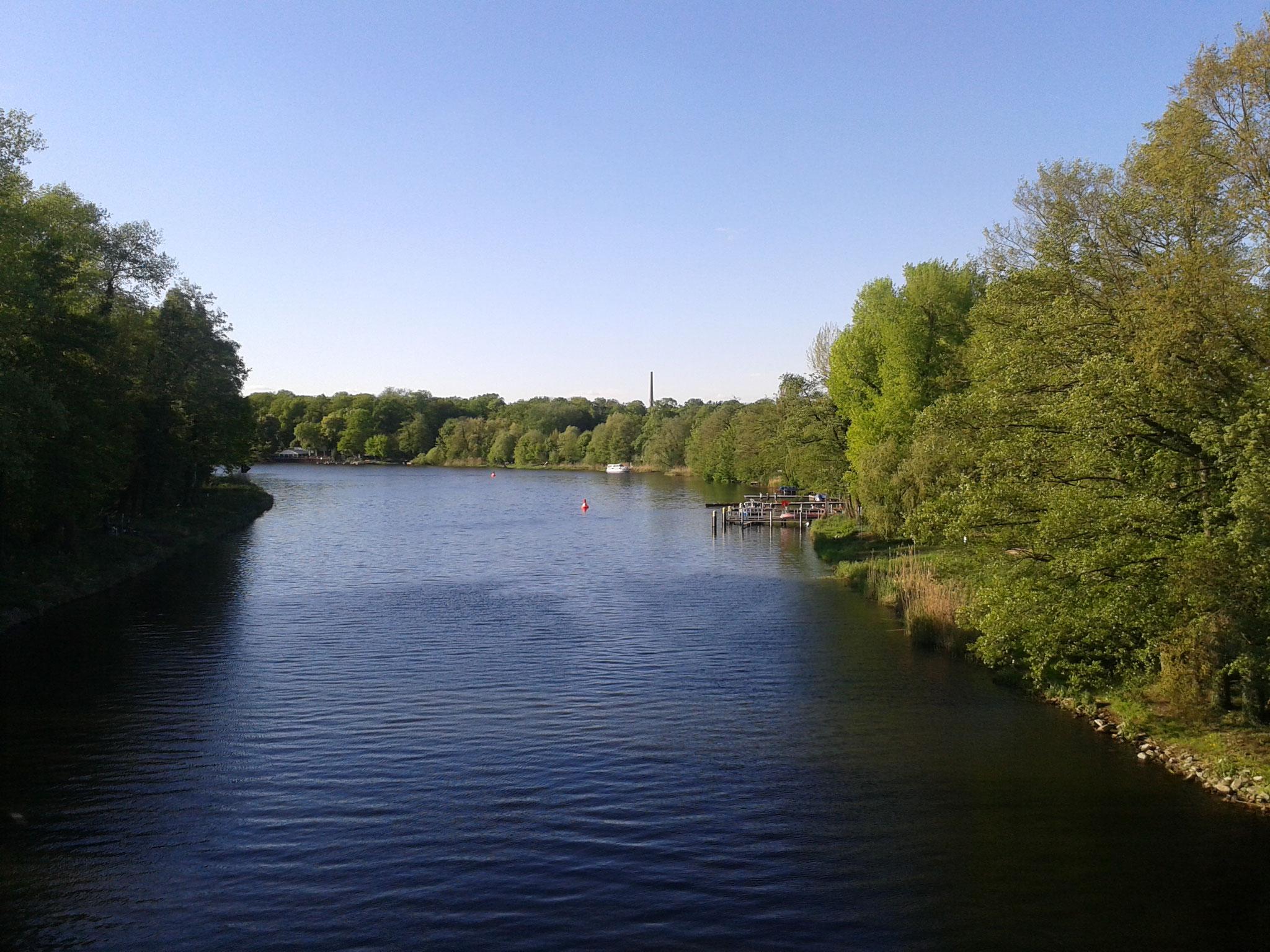 Fürstenwalde mit dem Boot