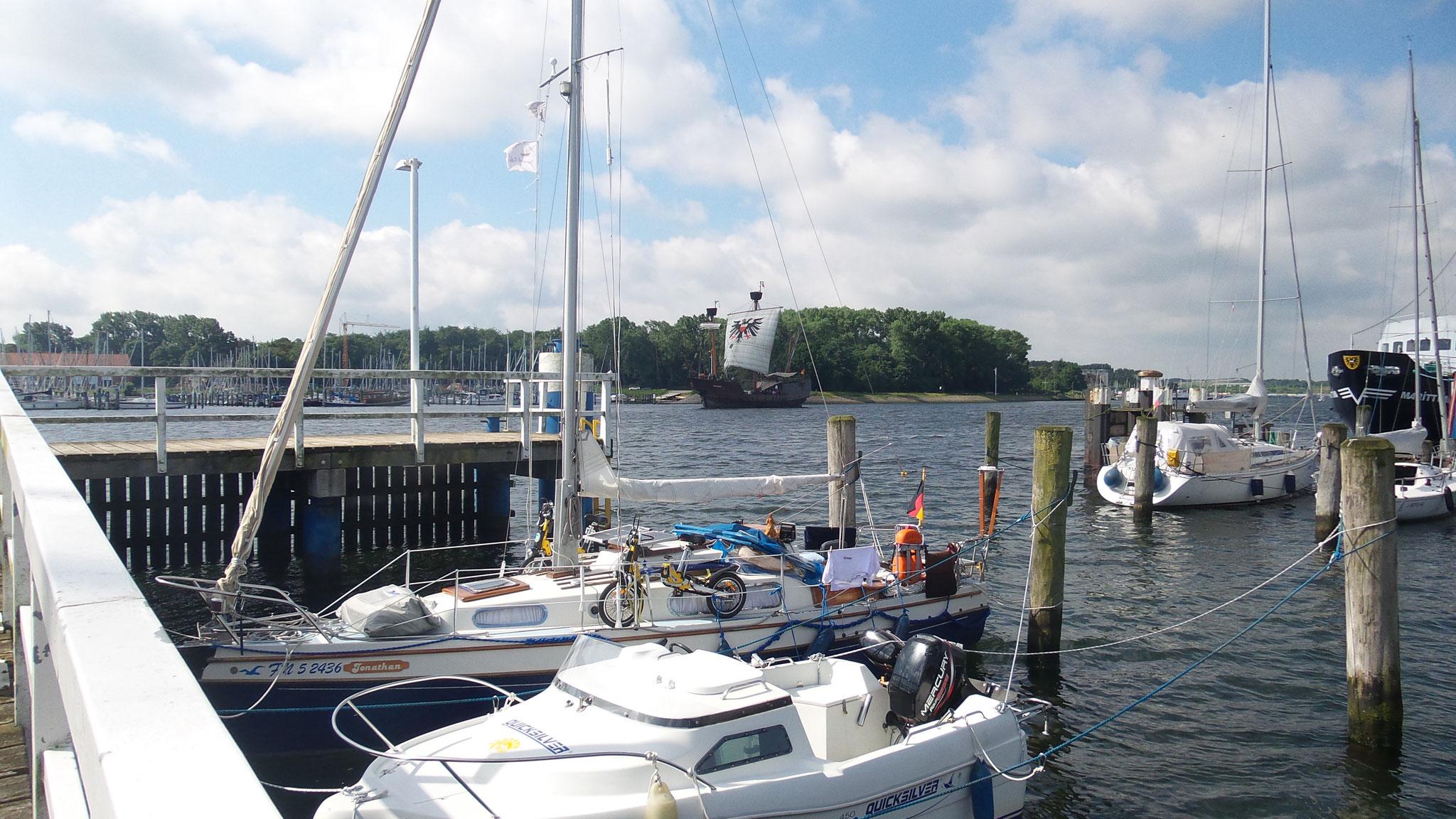 Hafen an der Trave