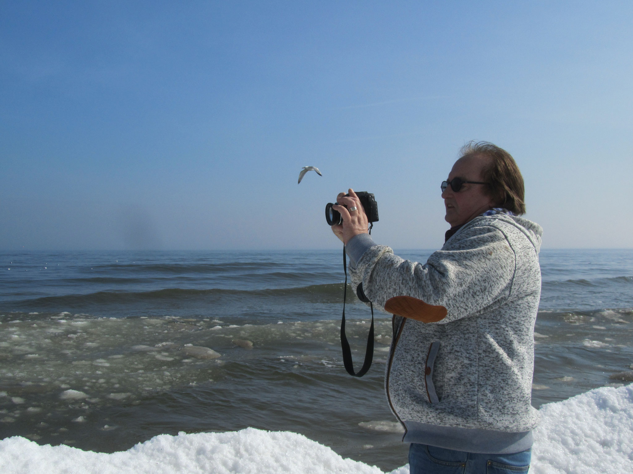 Schnee am Strand von Karlshagen auf Usedom