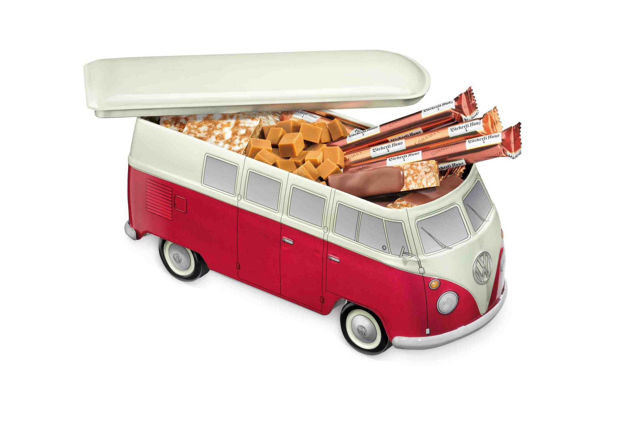 VW Bus T1, gefüllt mit Leckereien aus dem Läckerli Huus