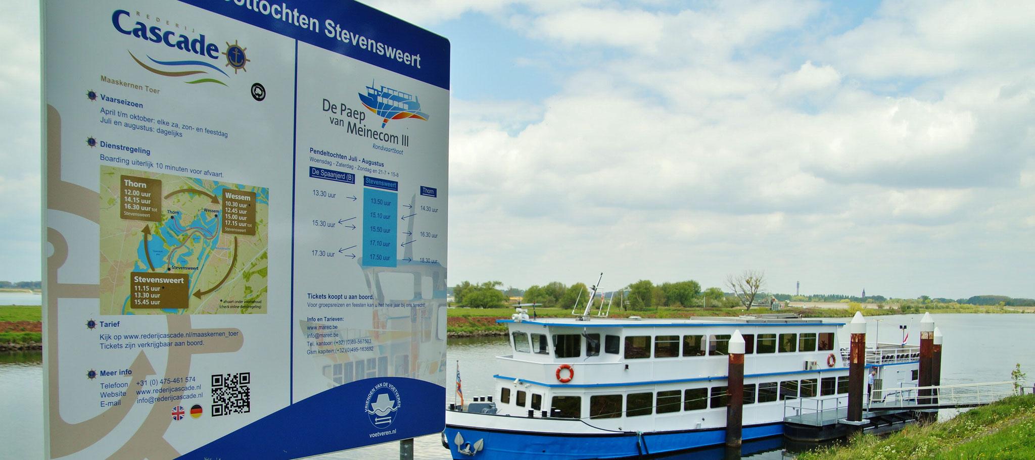 Bootstouren nach Thorn und Wessem sind möglich