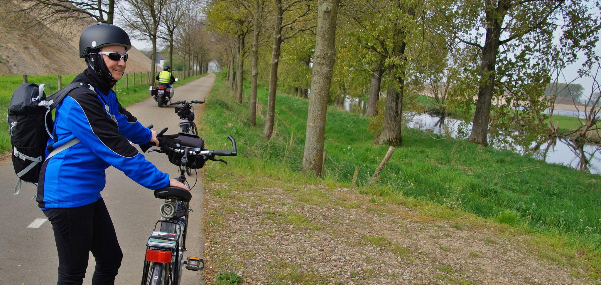 Hier hat sich ein Mopedfahrer verirrt