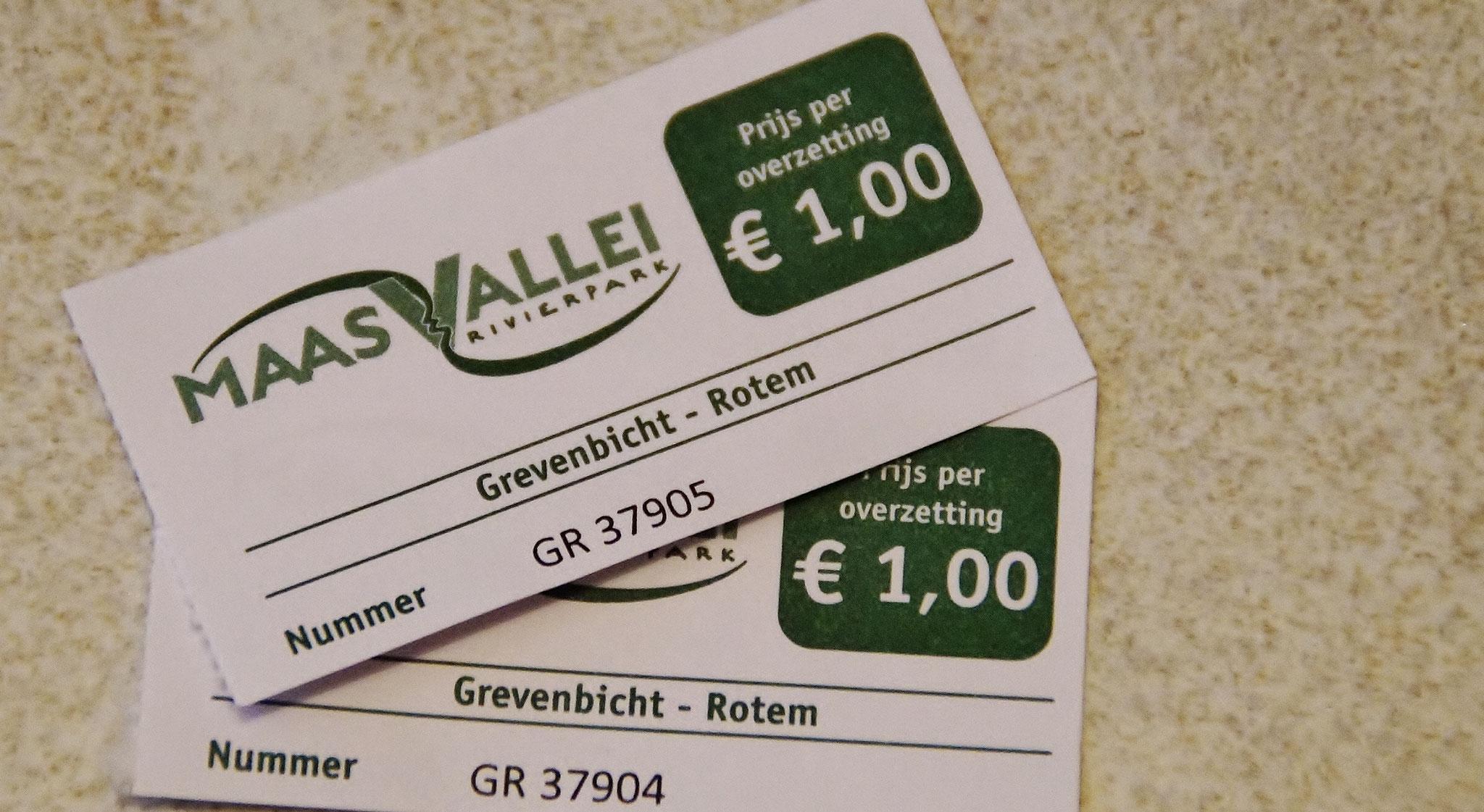 Tickets: Überfahrt nach Grevenbicht (NL)