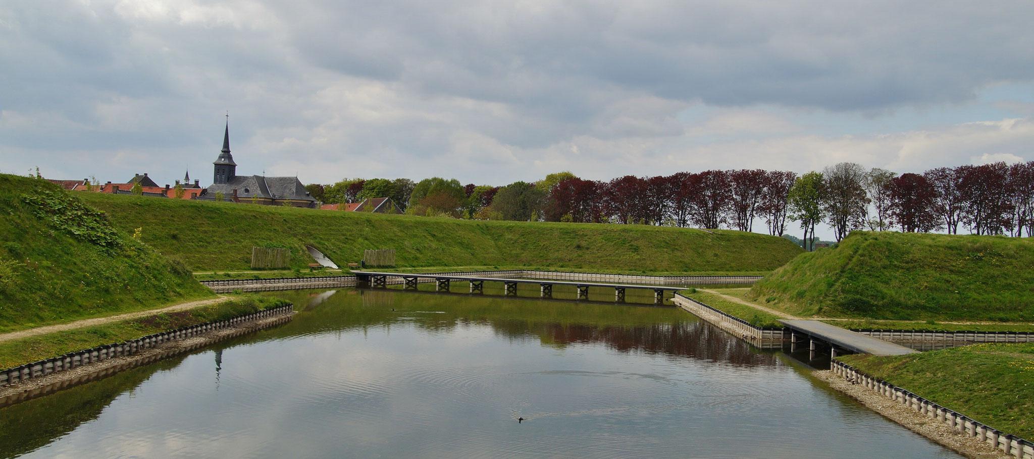 Die Festungsanlage in Stevensweert