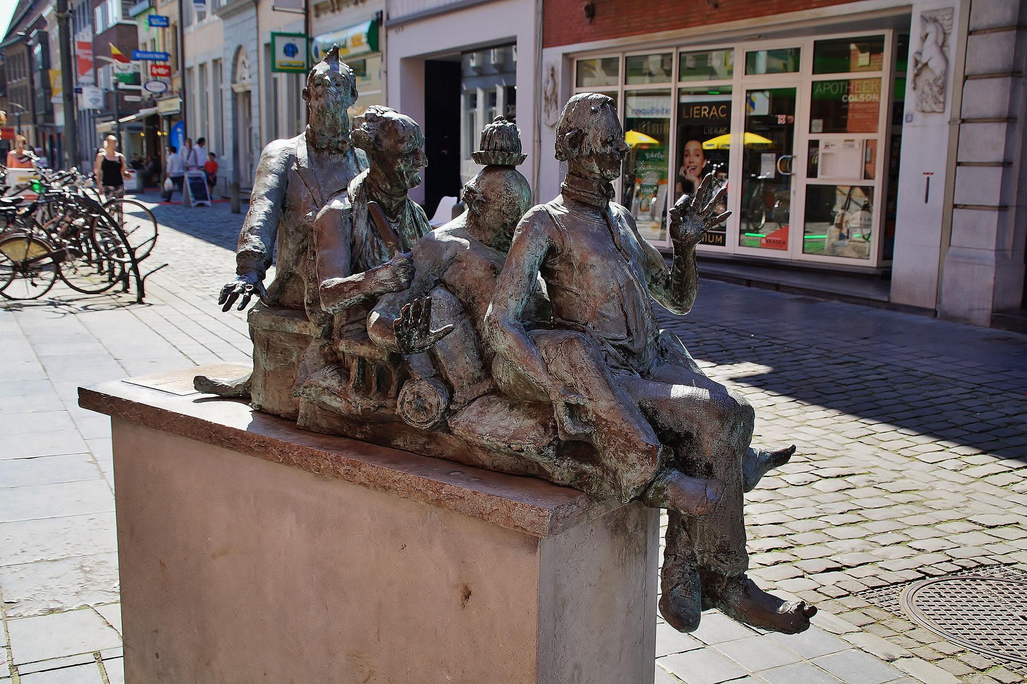 Eine der Skulpturen in der Innenstadt