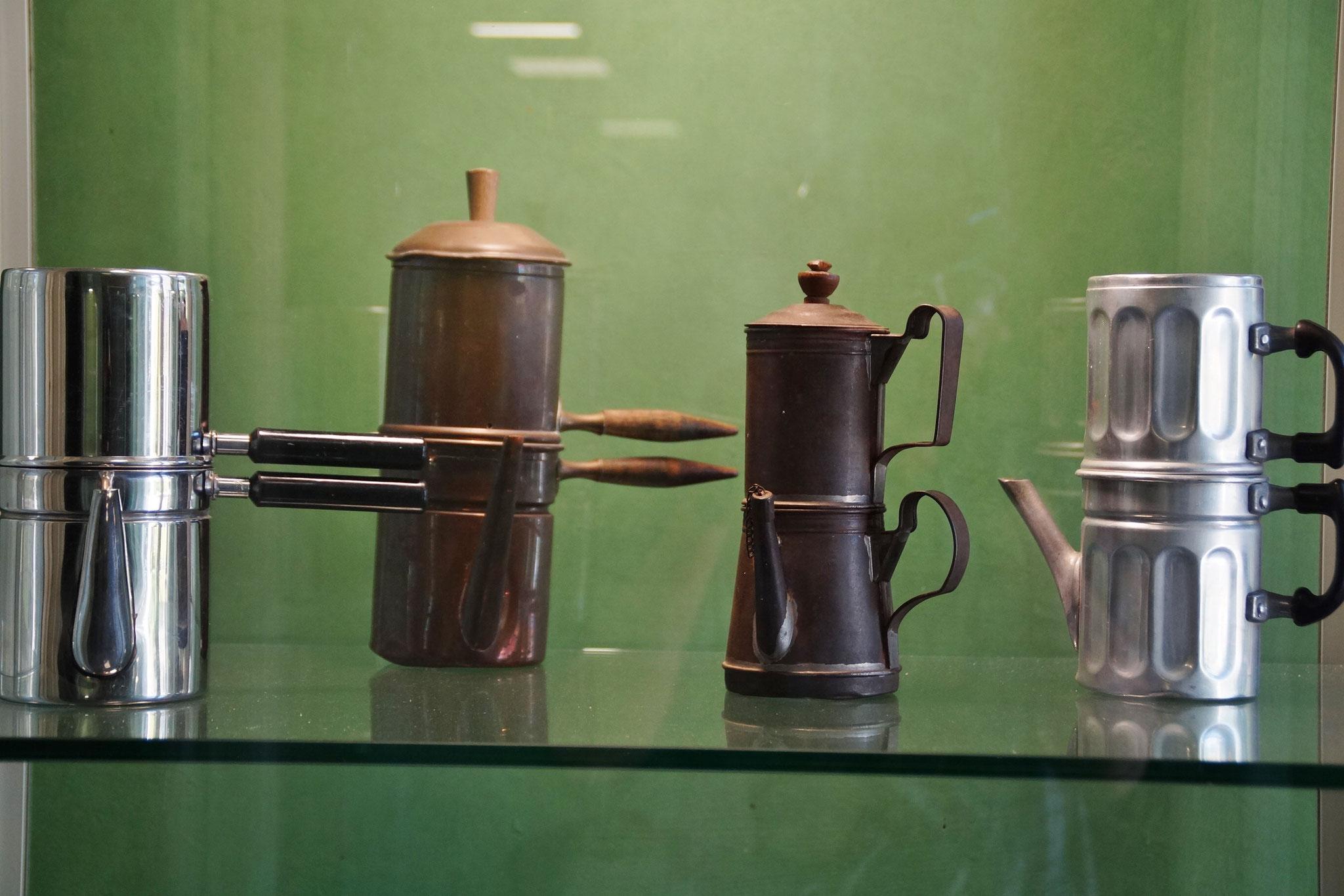 Ausgestellt: Alte Kaffemaschinen und