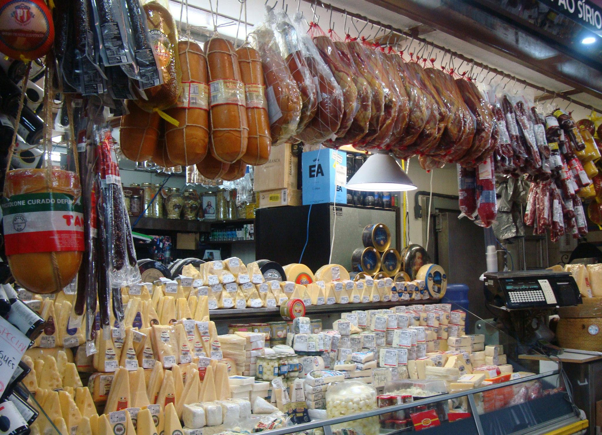 お土産を買いに必ず寄るチーズ屋さんーサンパウロ市場にて