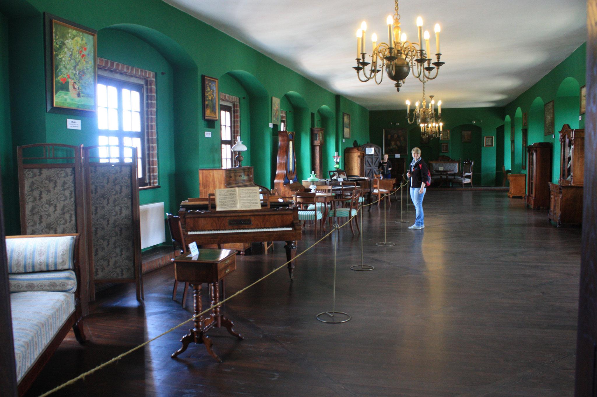 Grüner Saal, unschwer zu erkennen.....