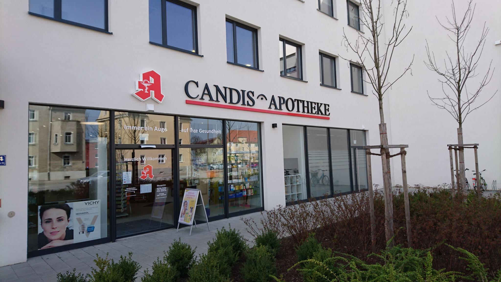 Candis Apotheke, Außenansicht Straubinger Straße
