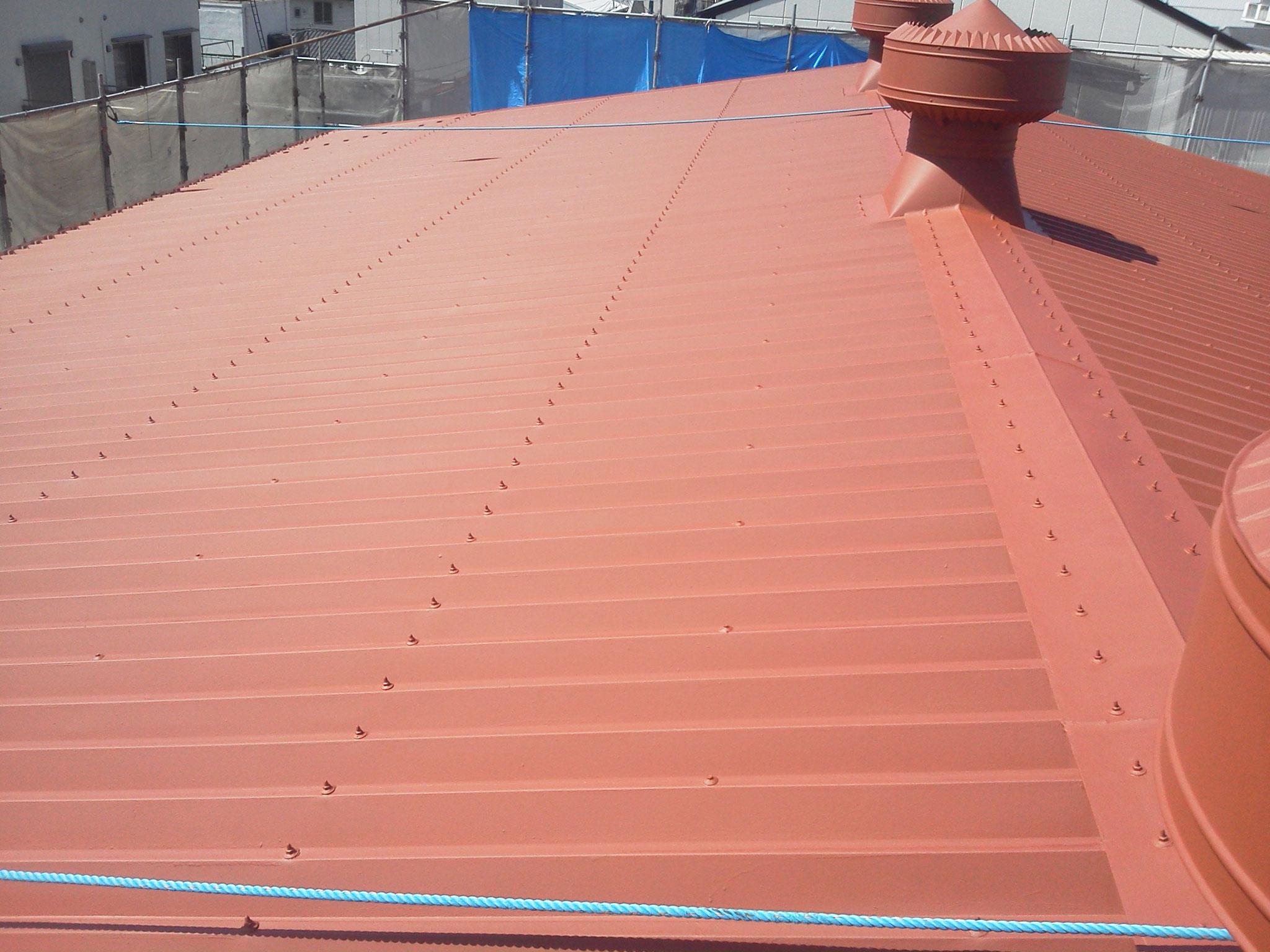 熱交換塗料塗布 屋根