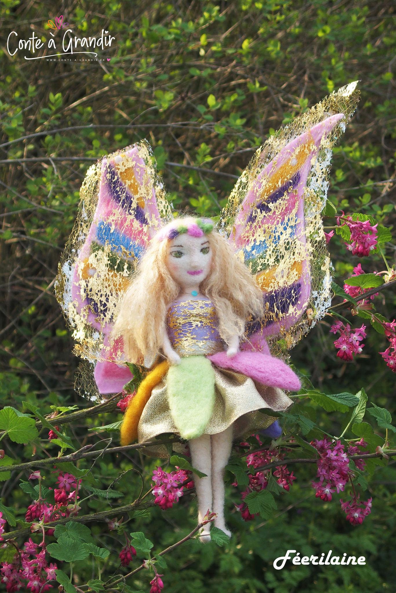 L'héroïne, la jolie fée Lumin'aile aux ailes arc en ciel