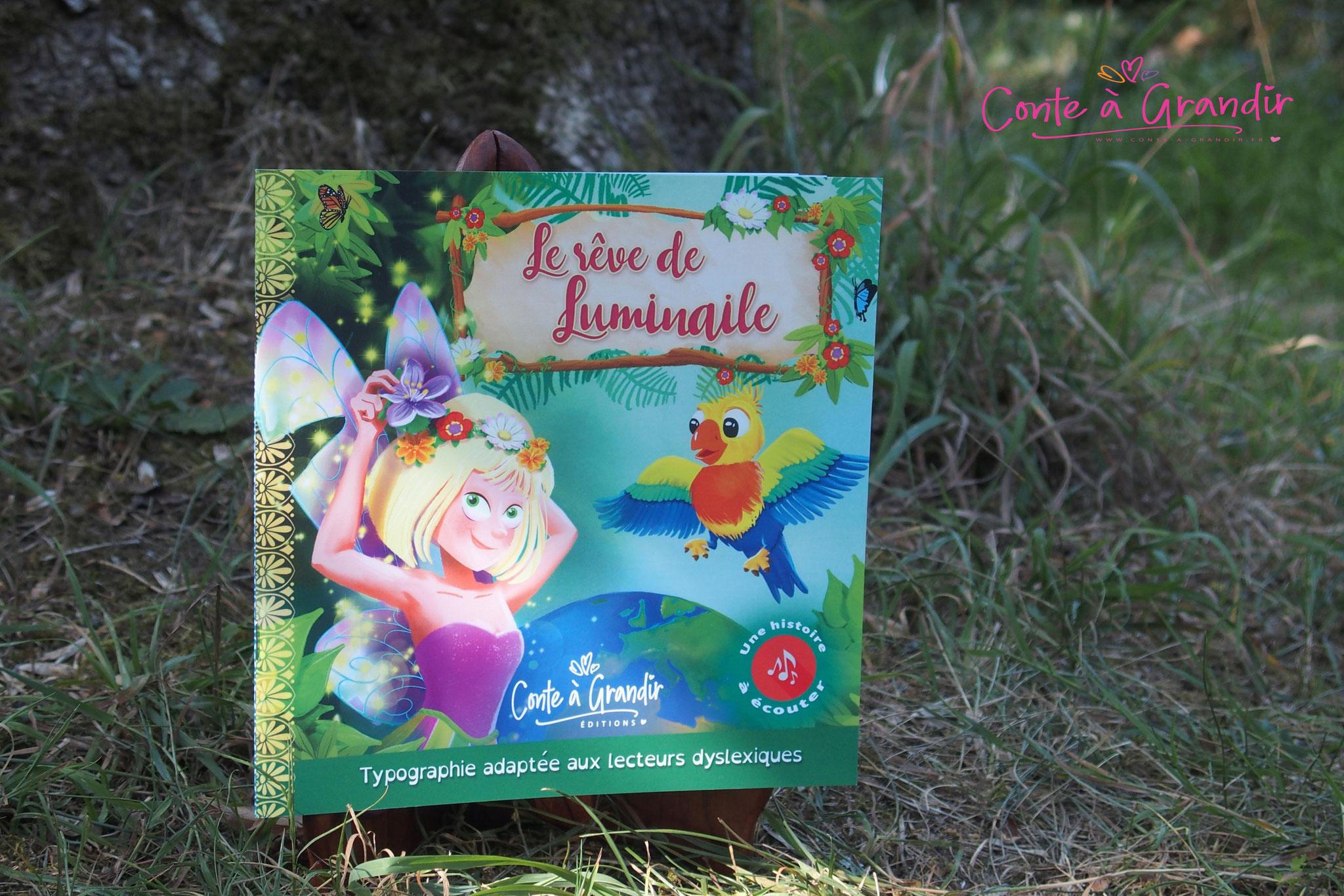 Livre Le Reve de Luminaile et livre audio jeunesse