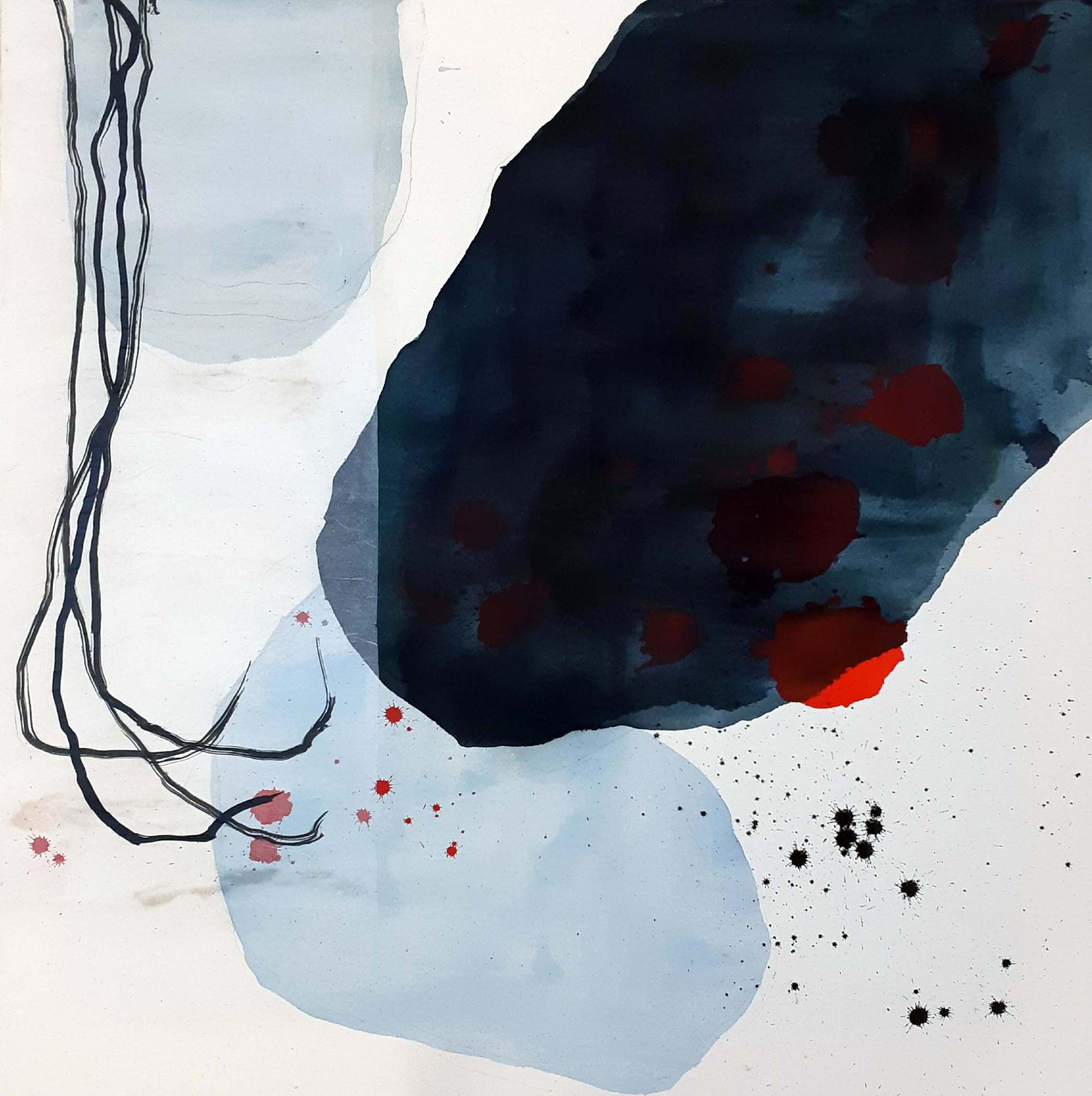 """SOLD_Series """"Plants"""" - Tusche auf Leinwand / ink on canvas - 90 x 90 cm"""