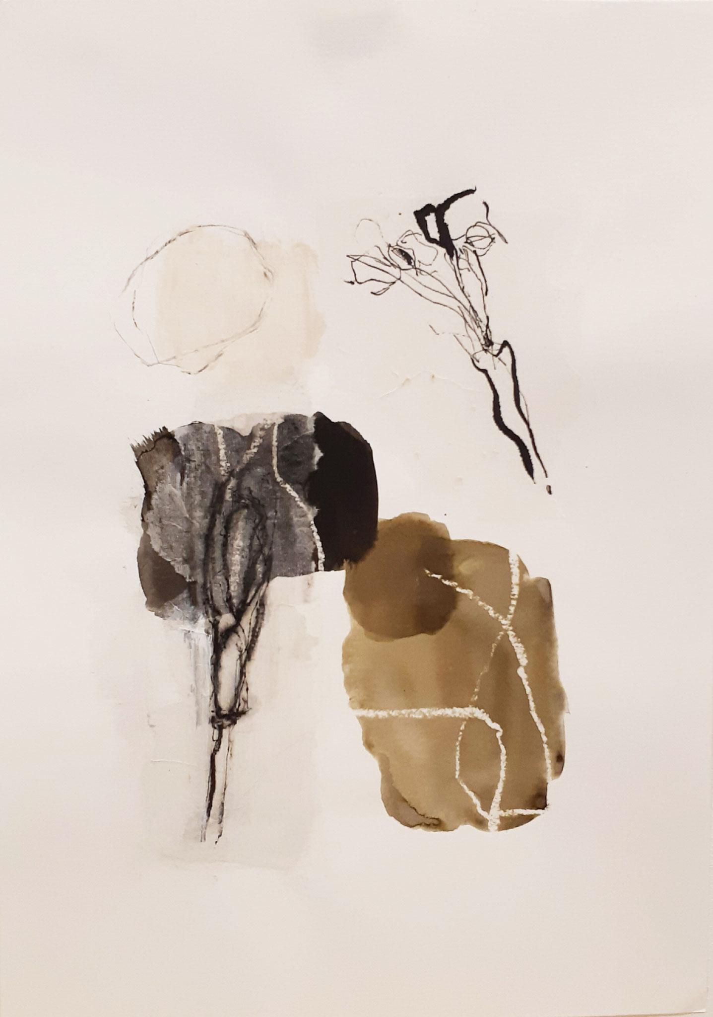 Mixed media auf Papier / on paper  30 x 40 cm