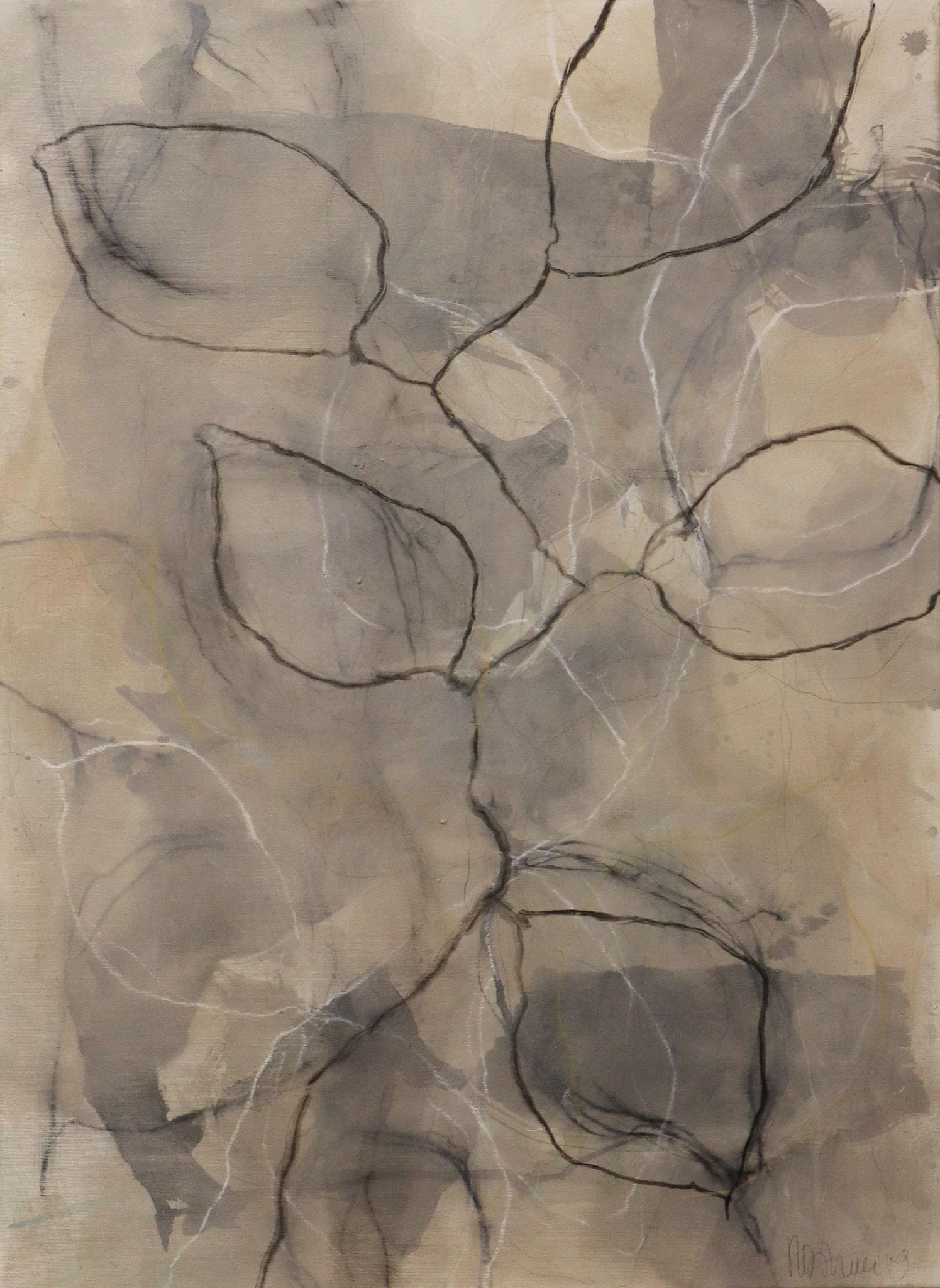 Serie 'Traces' 2019 - Mischtechnik auf Leinwand / mixed media on canvas - 80 x 100 cm