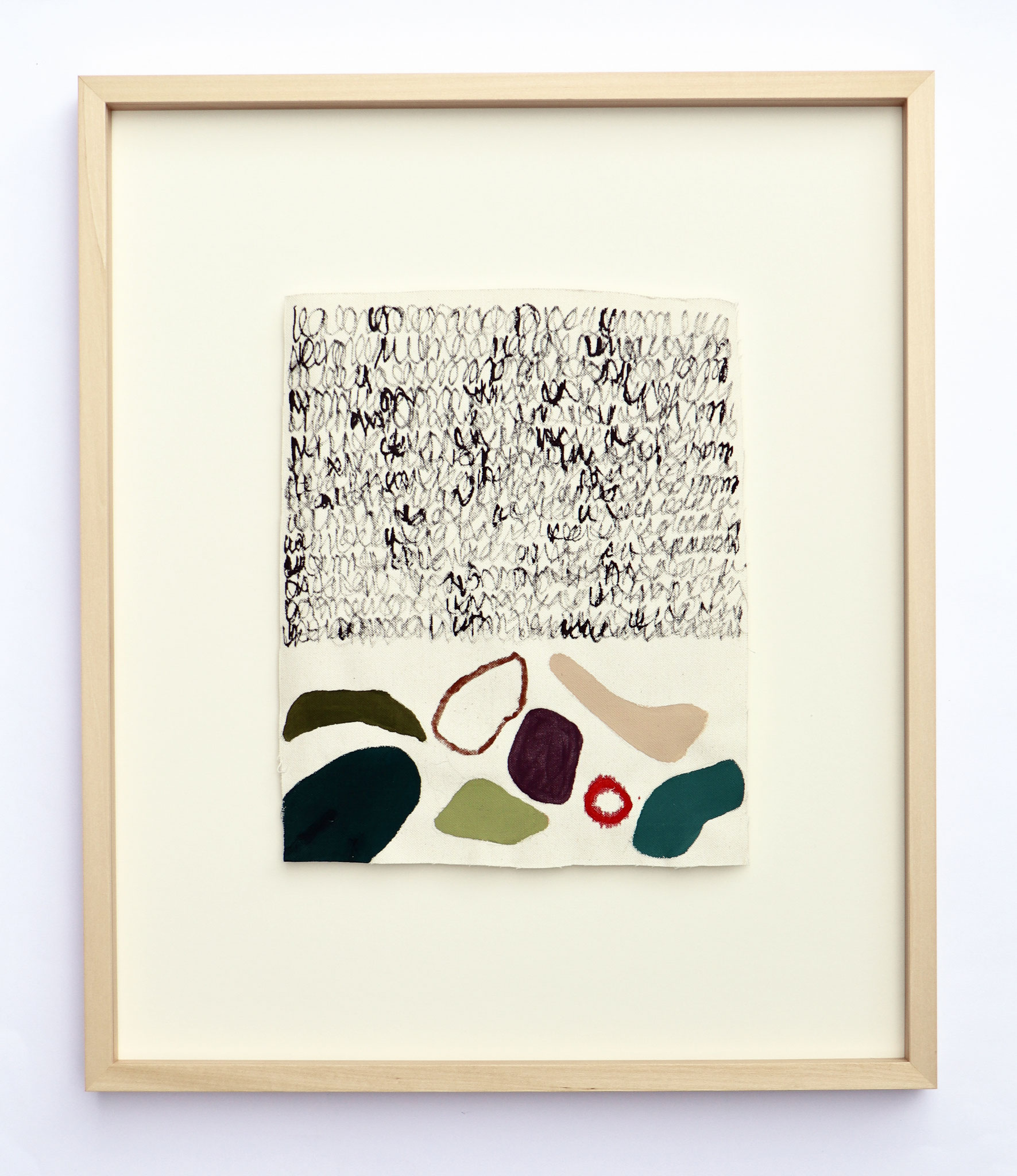 """Series """"Plants"""" - Tusche & Gouache auf Baumwollstoff/ ink & gouache on linen - 50 x 60 cm"""