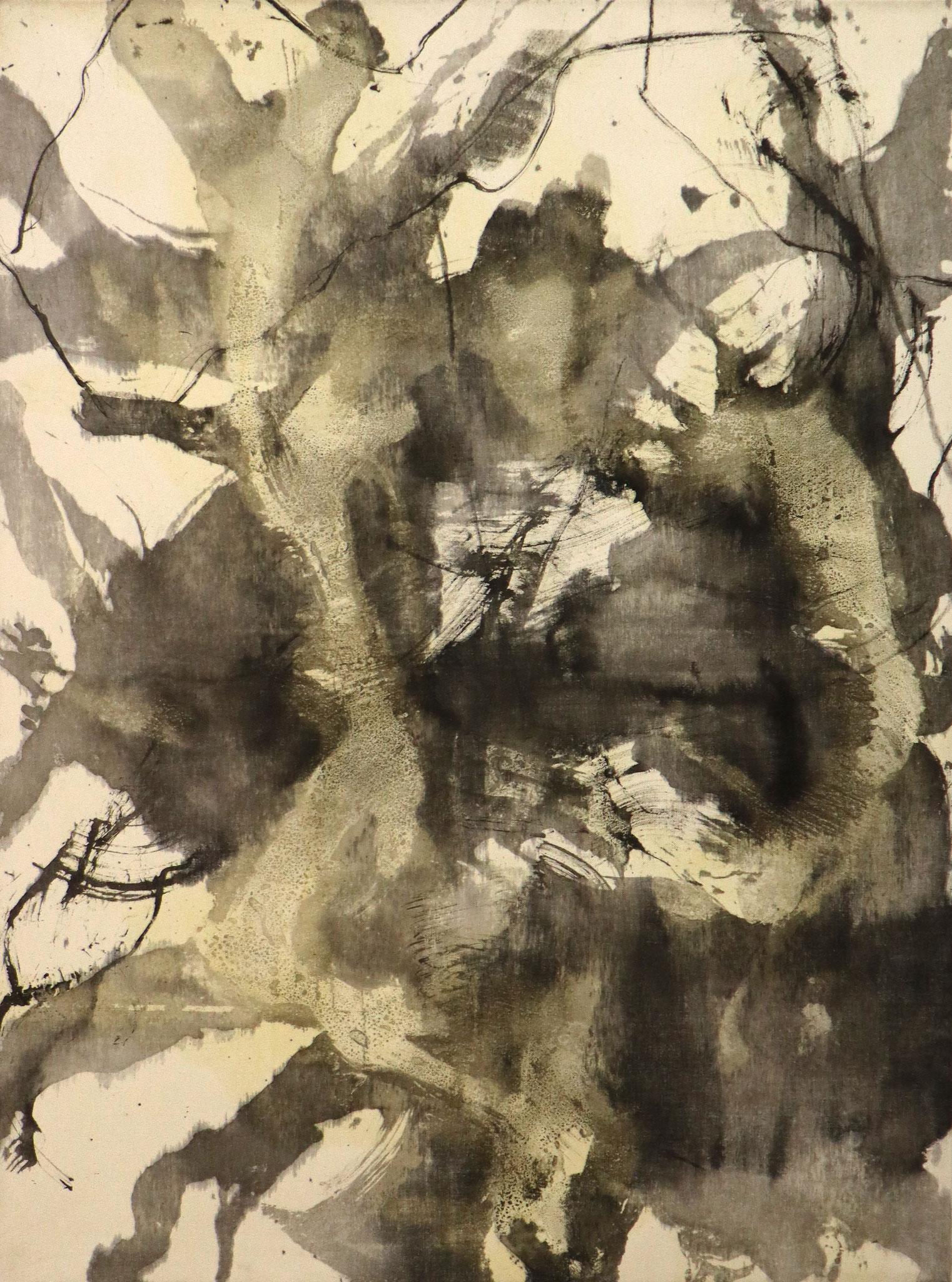 Serie 'Traces' 2020 - Tusche & Öl auf Leinwand / ink & oil on canvas - 90 x 120 x 1.8 cm