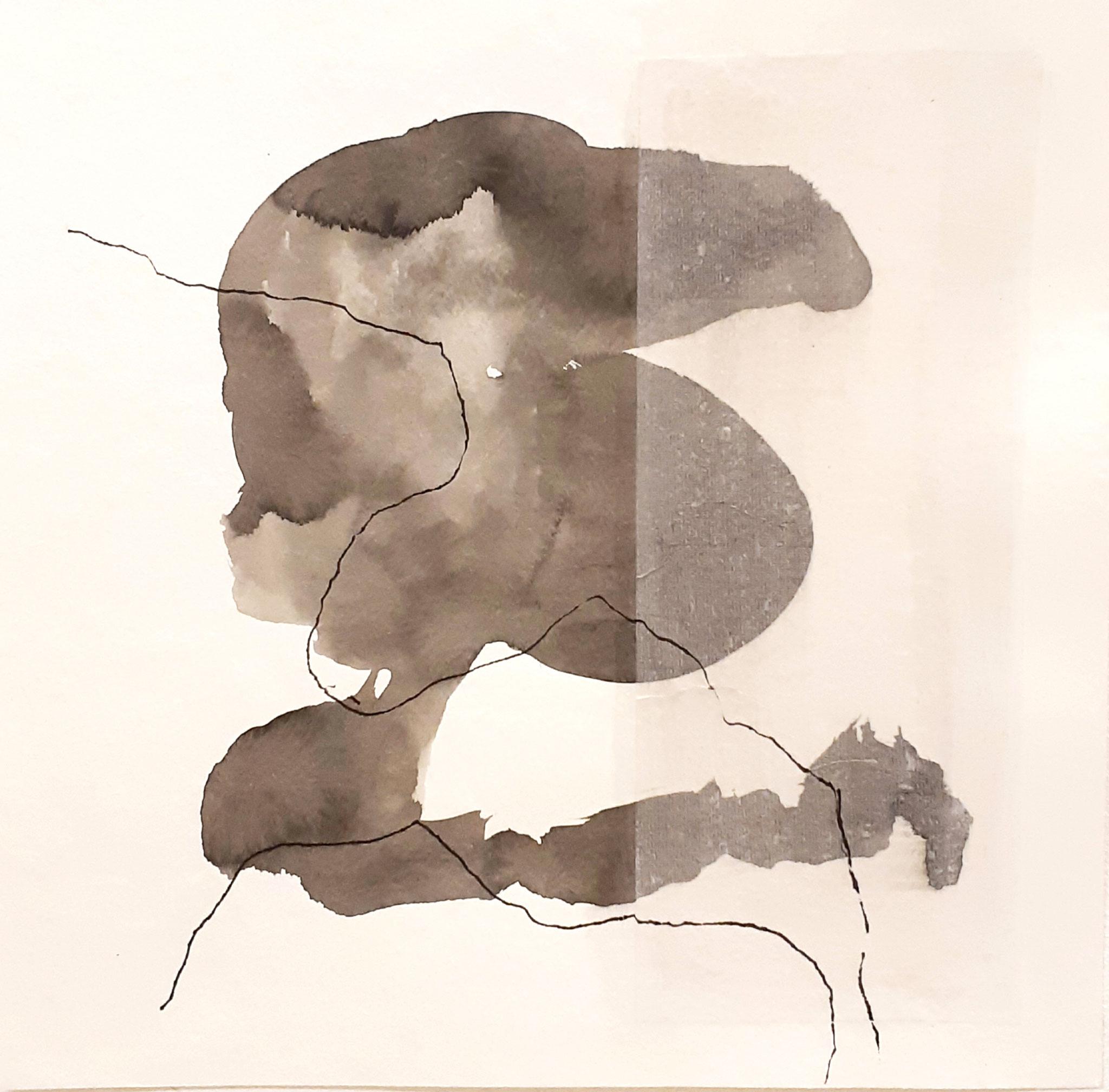 Mixed media auf Papier / on paper  25 x 25 cm