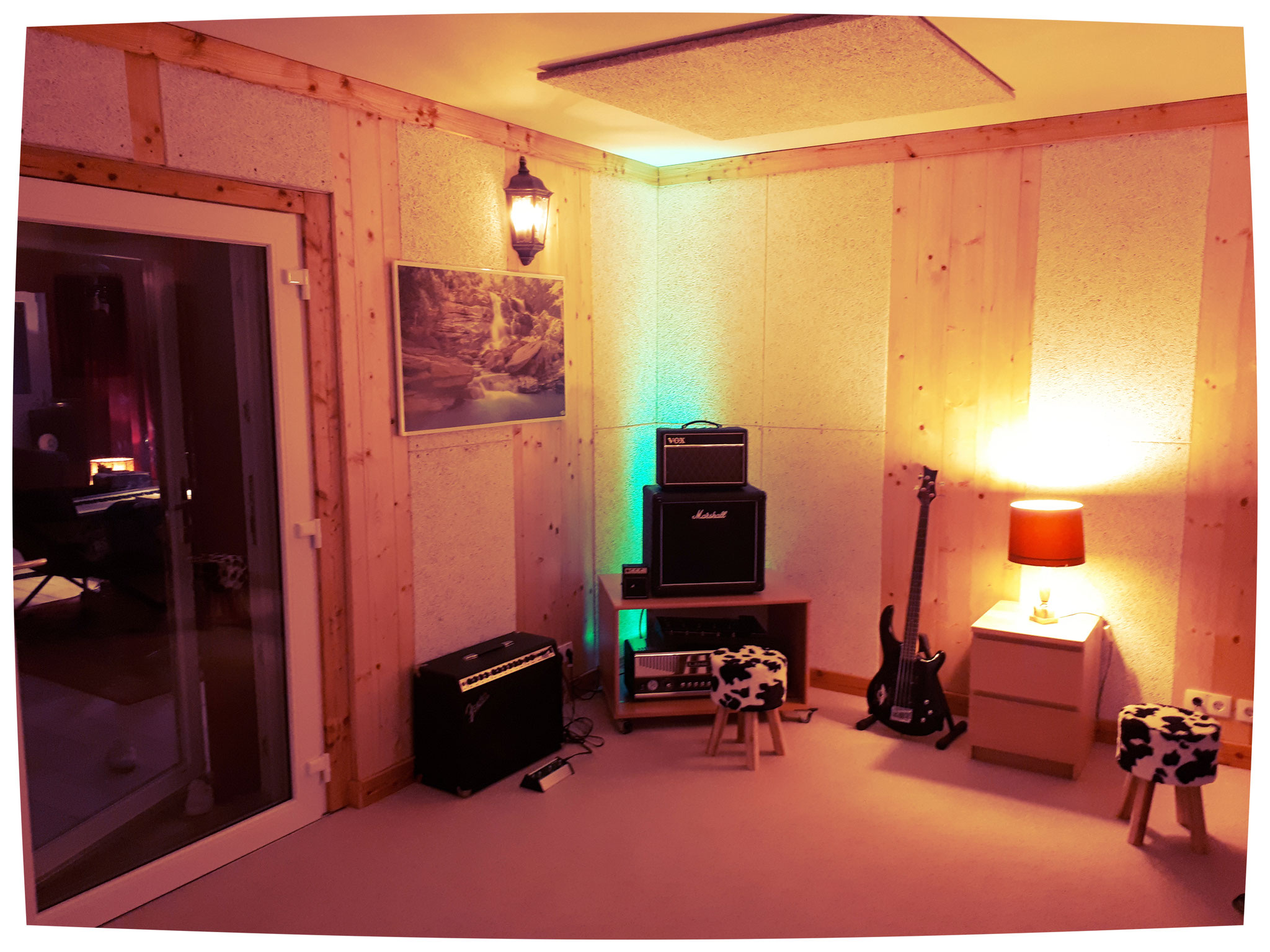Recording room with carpet ;)