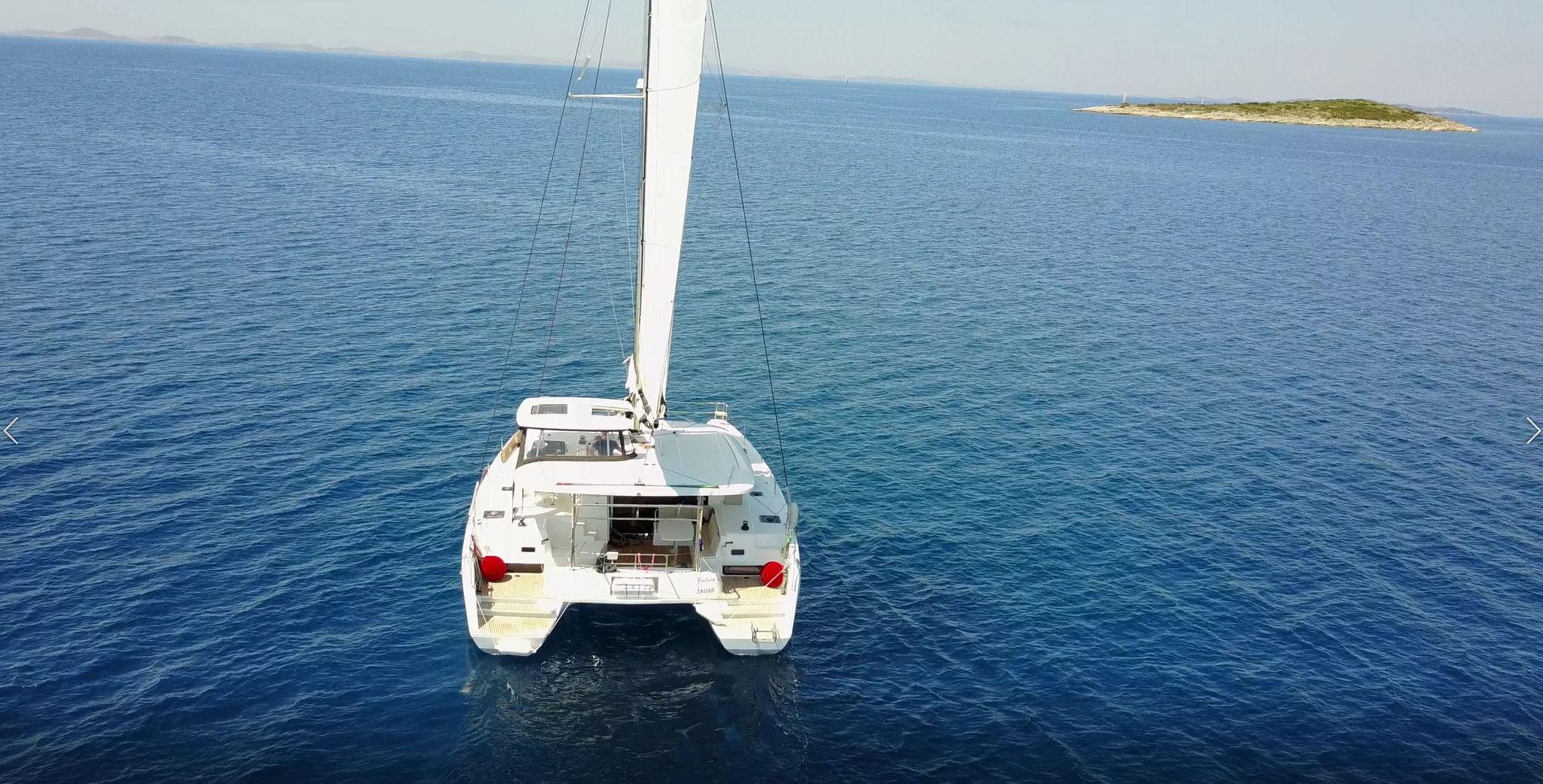 Katamaran segeln mit bis zu 12 Personen - www.katamaramtraum.com