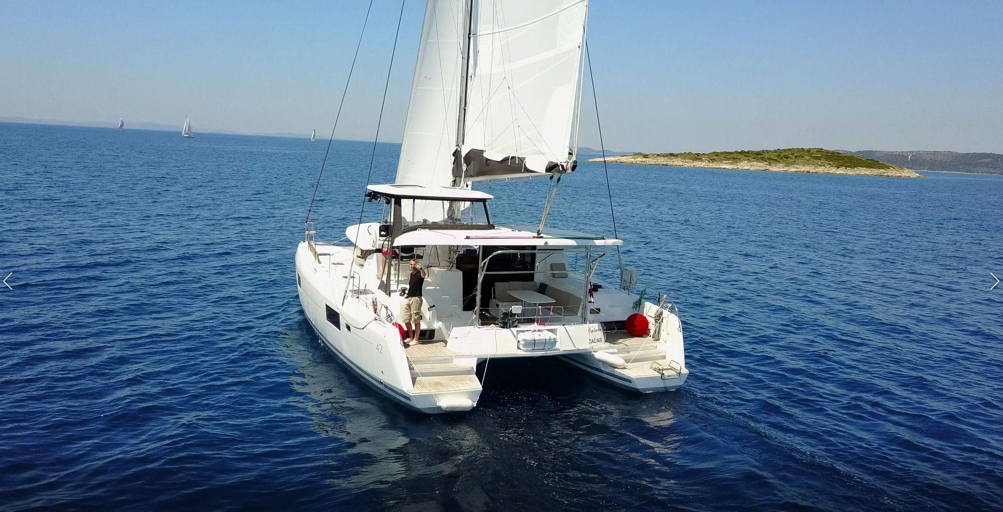 Katamaran segeln als Katamarantraining in Kroatien - www.katamaramtraum.com
