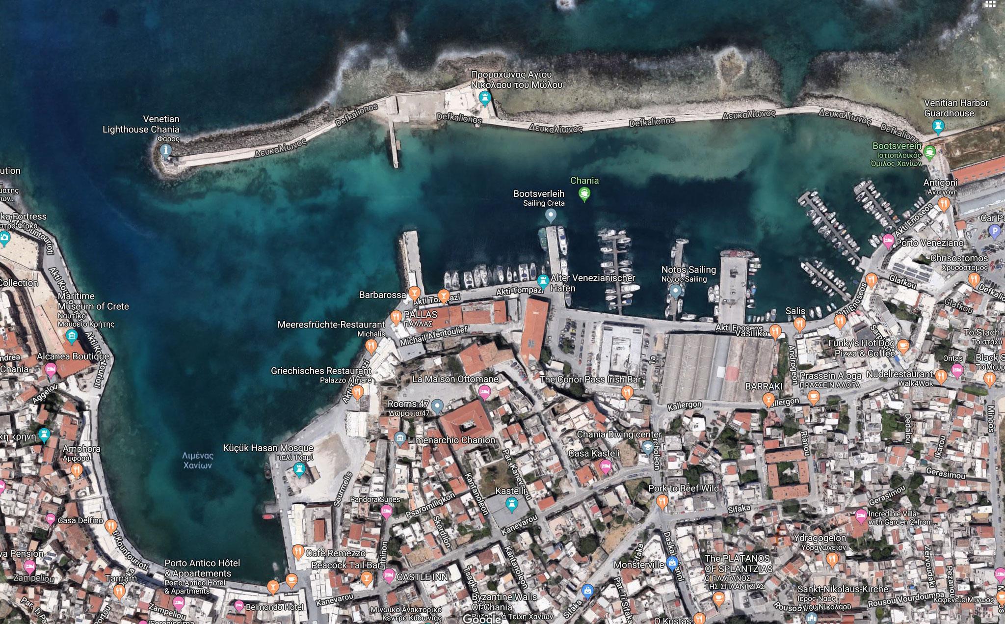Stadt Chania auf Kreta - Griechenland, Katamaran Lagoon 42