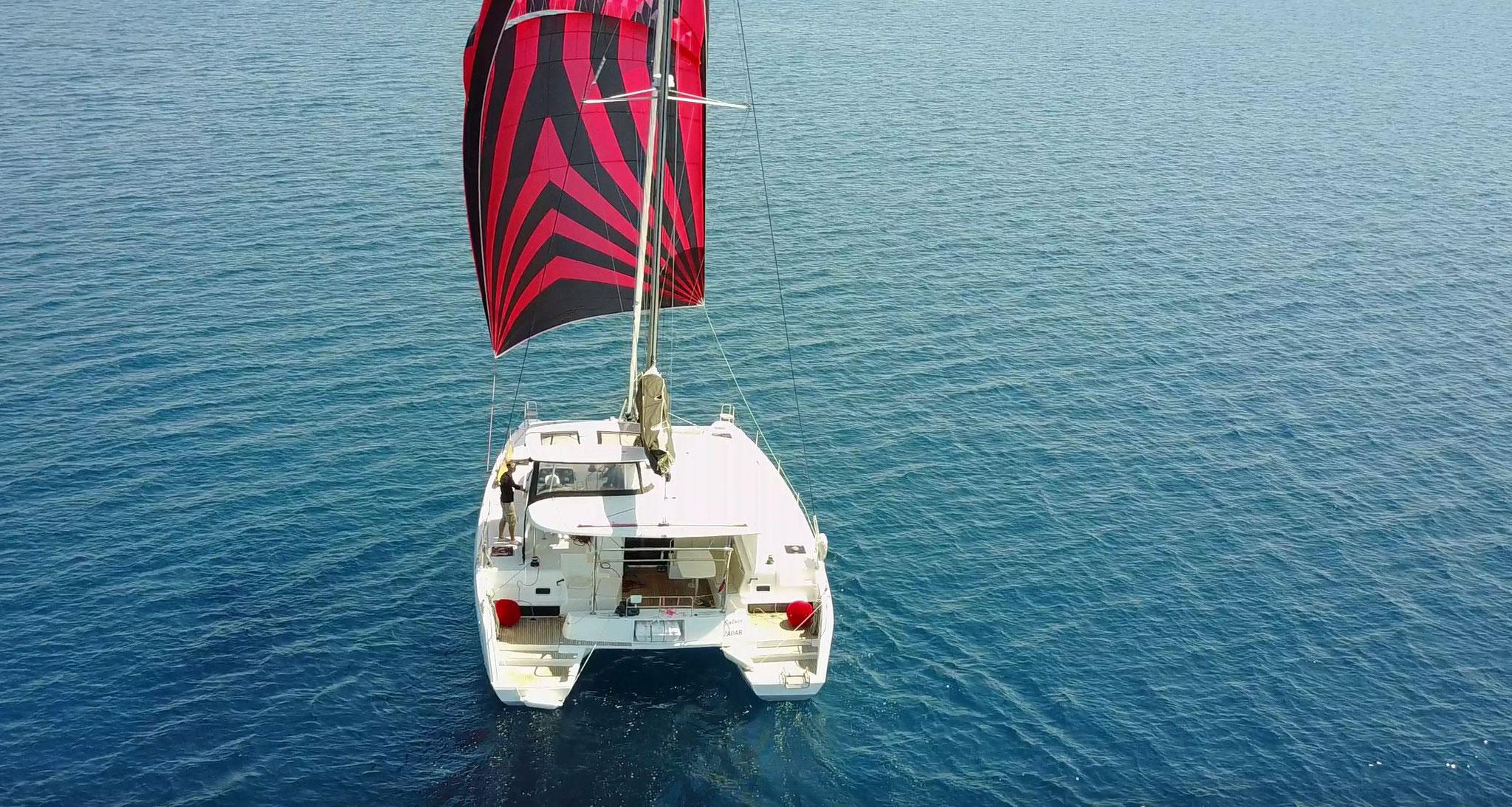 Karamaran fahren mit Lagoon 42 - Janny in Kroatien      -       www.katamarantraum.com