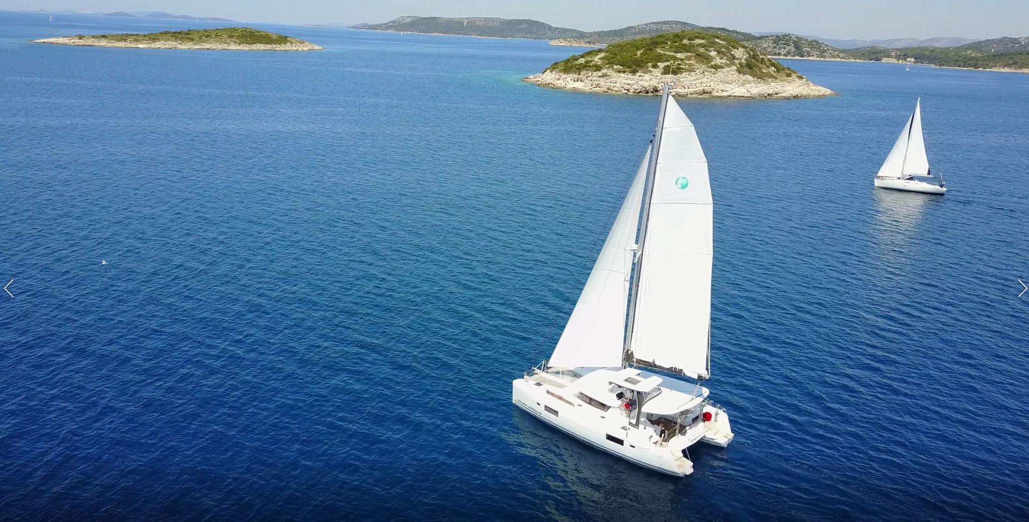 Katamaran segeln als Charter Kanaren von La Gomera - Janny - www.katamaramtraum.com