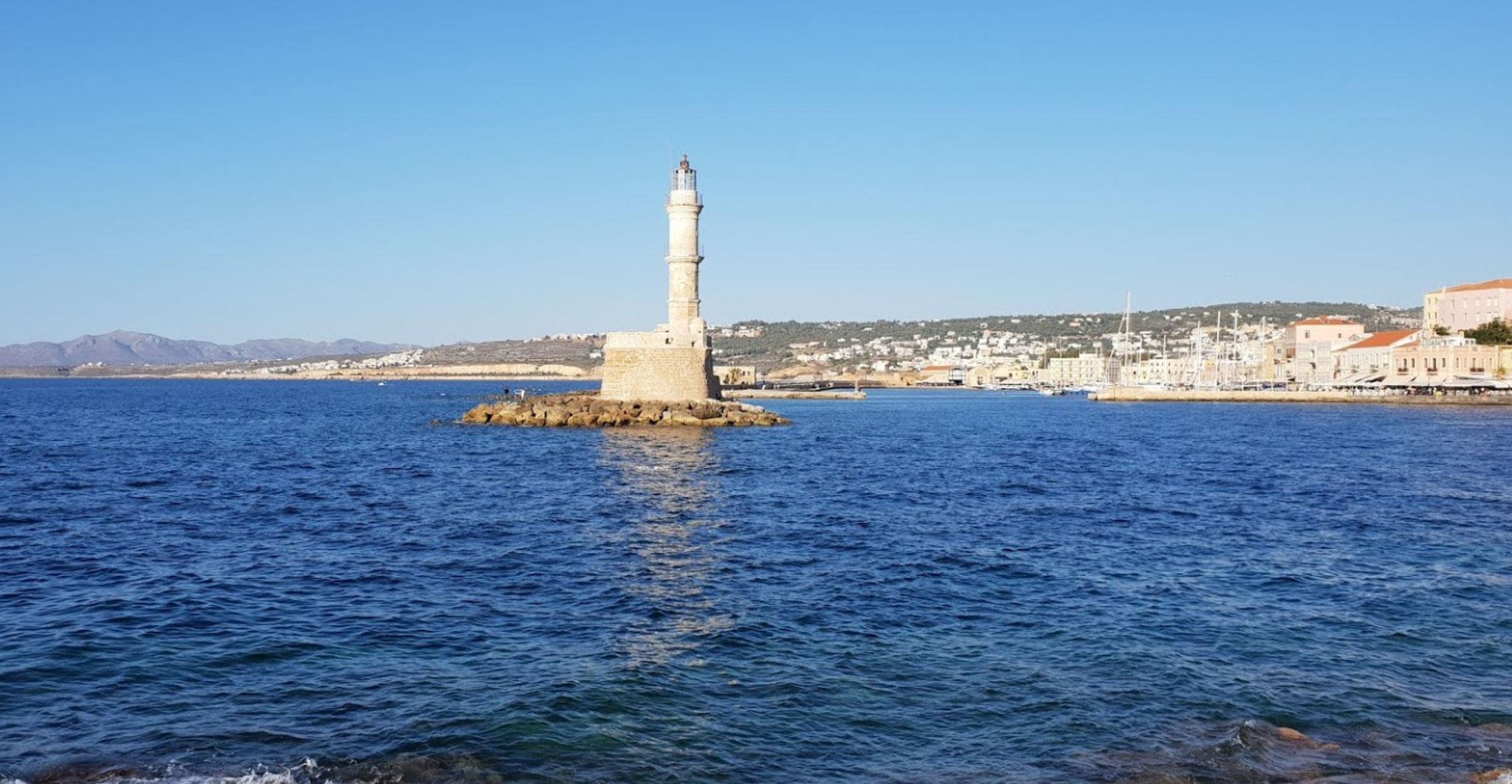 Chania Hafen Einfahrt
