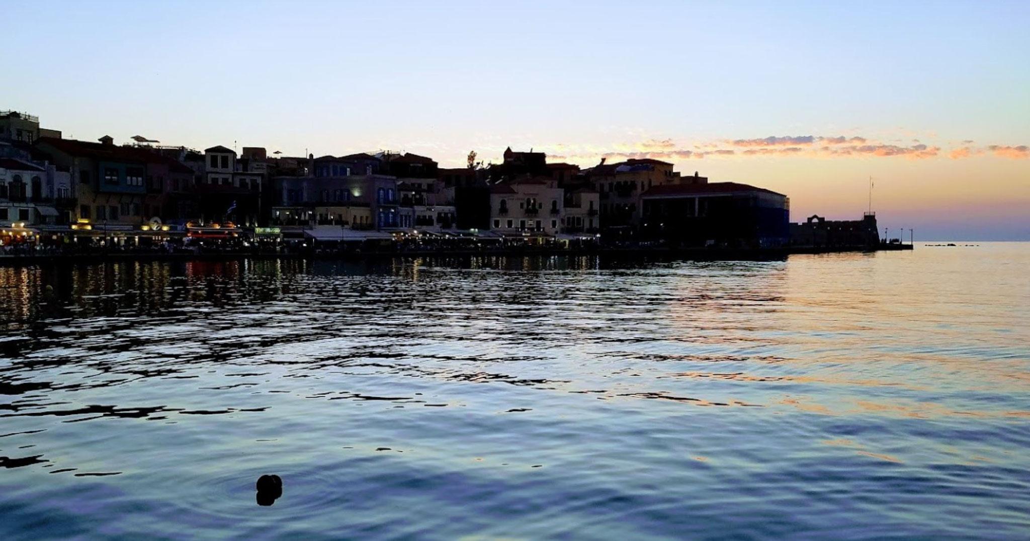 Chania bei Nacht - Kreta Griechenland