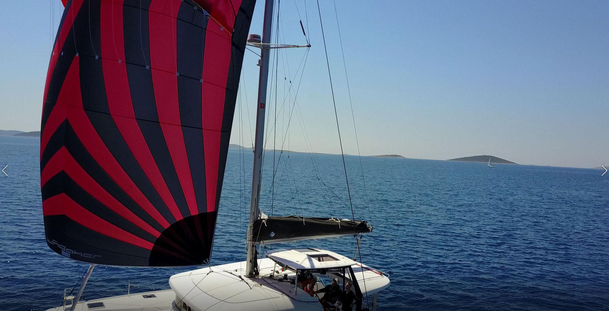 Karamaran fahren als Charter Kanaren mit Skipper      -       www.katamarantraum.com