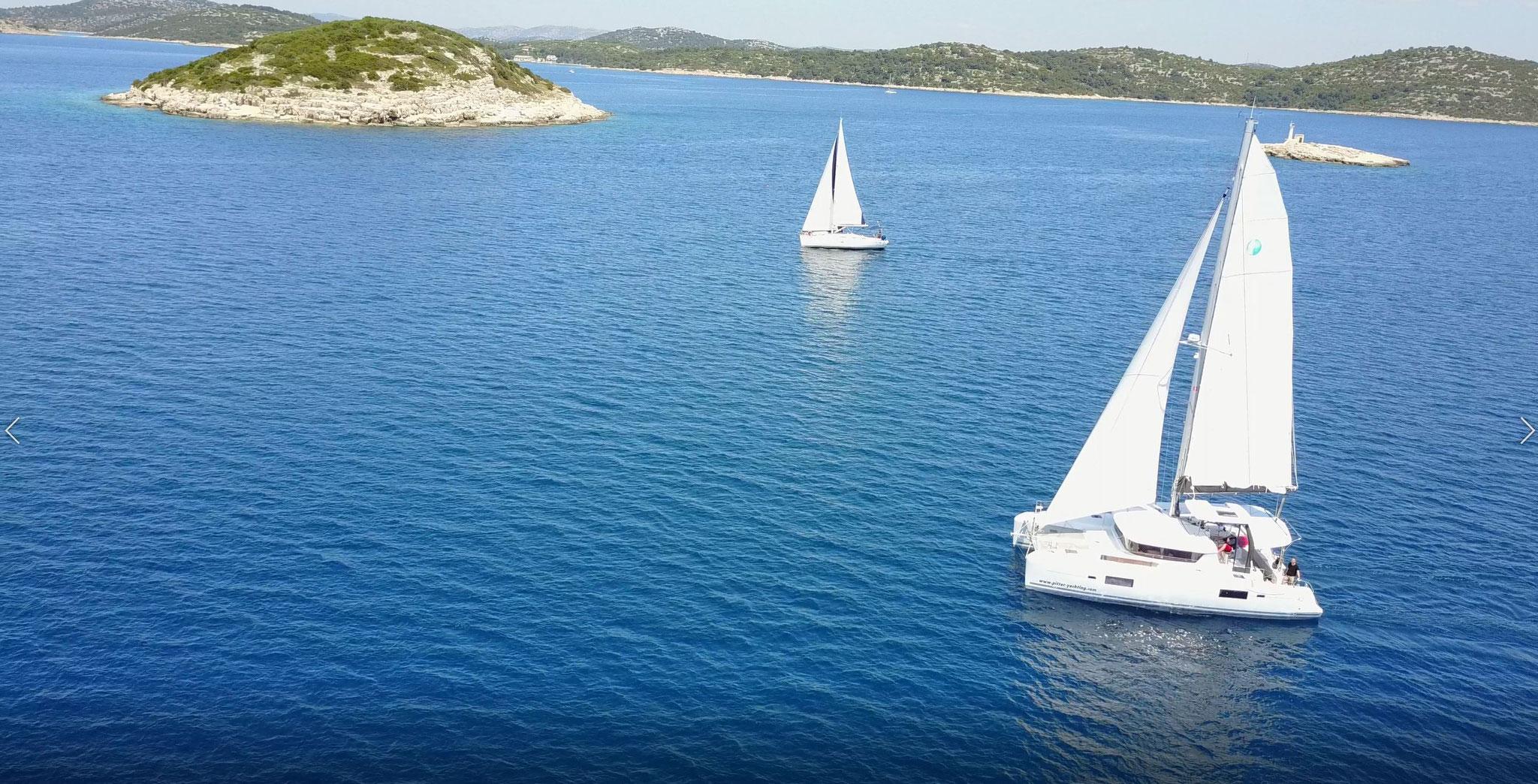 Katamaran segeln als Charter Kanaren von San Sebastian - La Gomera - www.katamaramtraum.com