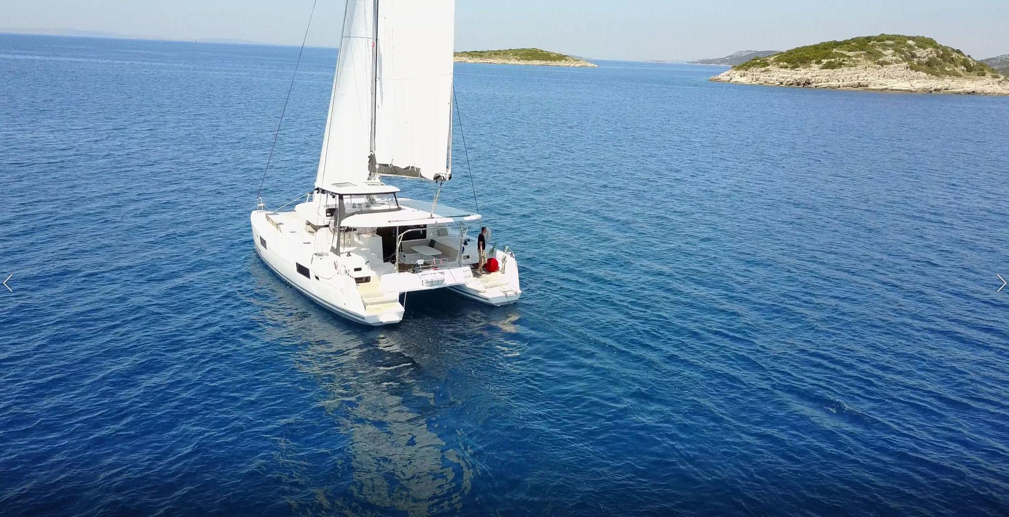 Katamaran Reisen als Charter Kroatien - www.katamaramtraum.com