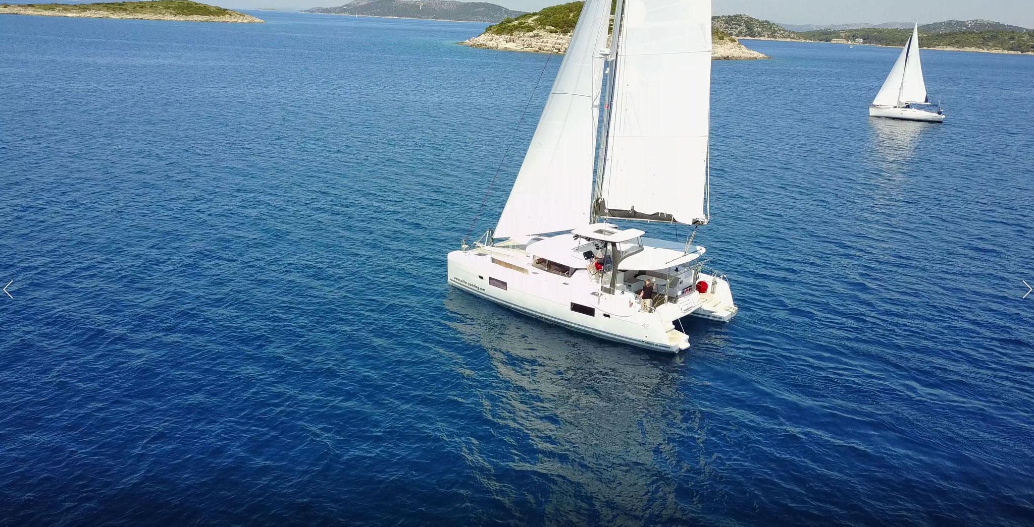 Katamaran segeln als Charter Kanaren - Janny - www.katamaramtraum.com