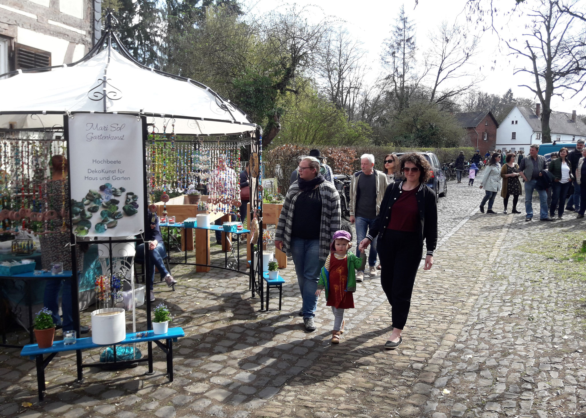 Der Besucherstrom riss gar nicht ab (Frühlingsmarkt)