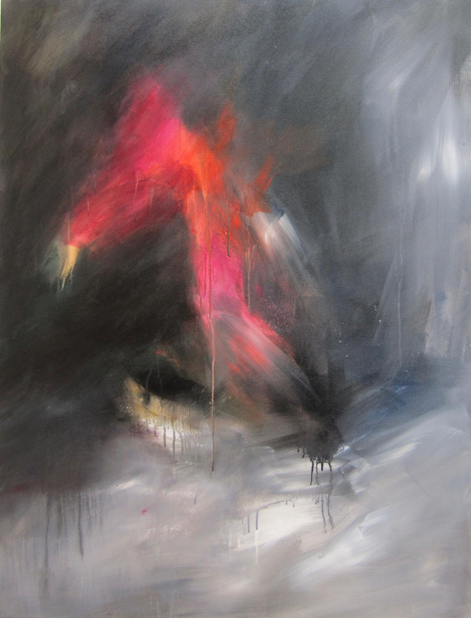 """Série """"Les Montagnes Blanches"""" - La Brûlure -116 x 89 cm - 2014 - Collection particulière"""