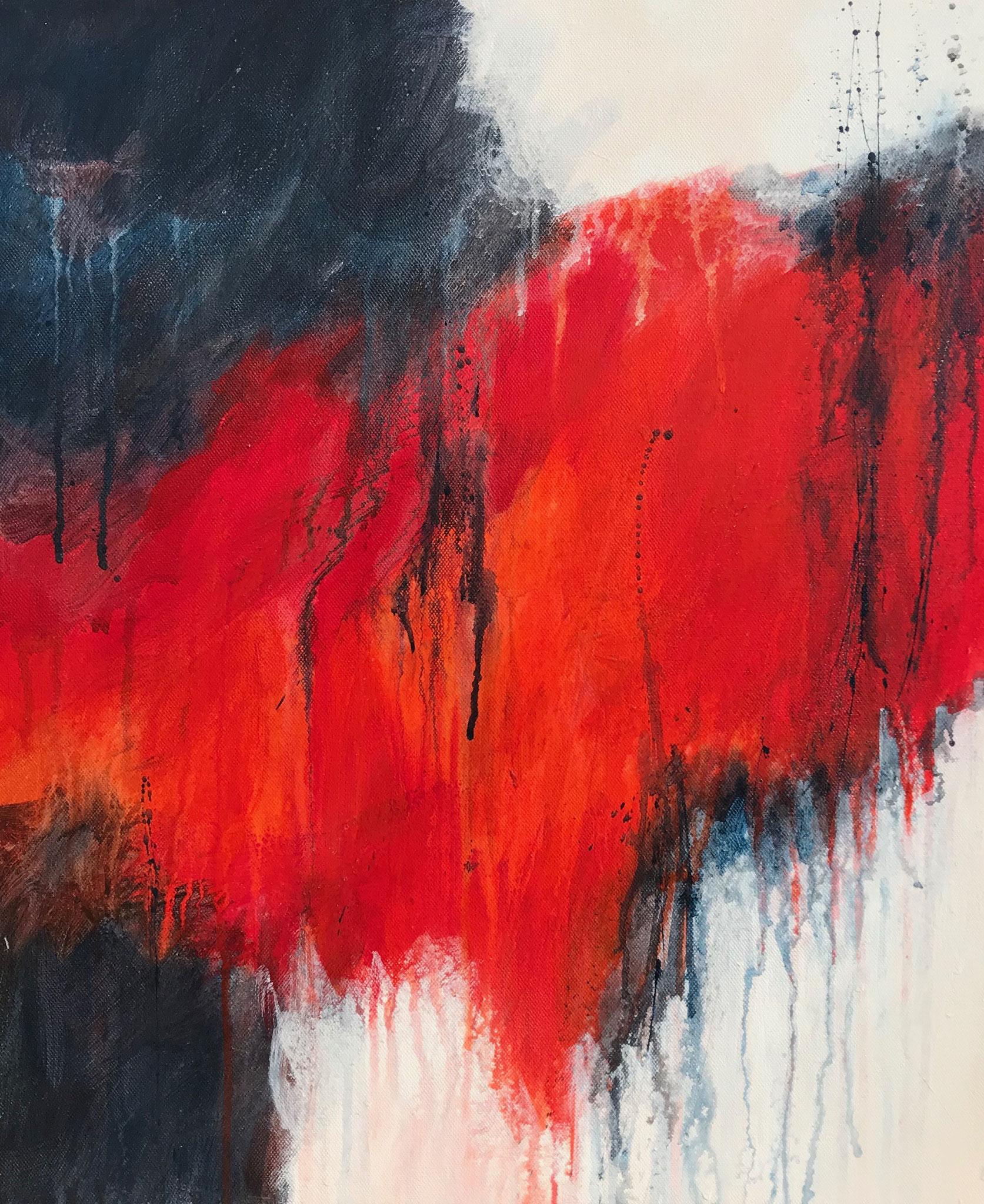 Les Enfers # 2 - 55 x 46 cm - Acrylique sur toile - 2019